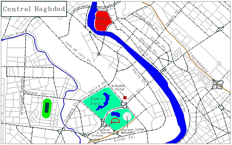 Baghdad downtown 1998