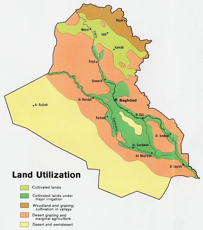 Utilización de la Tierra en Irak 1978