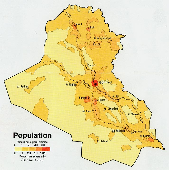 Iraq Population Density 1978