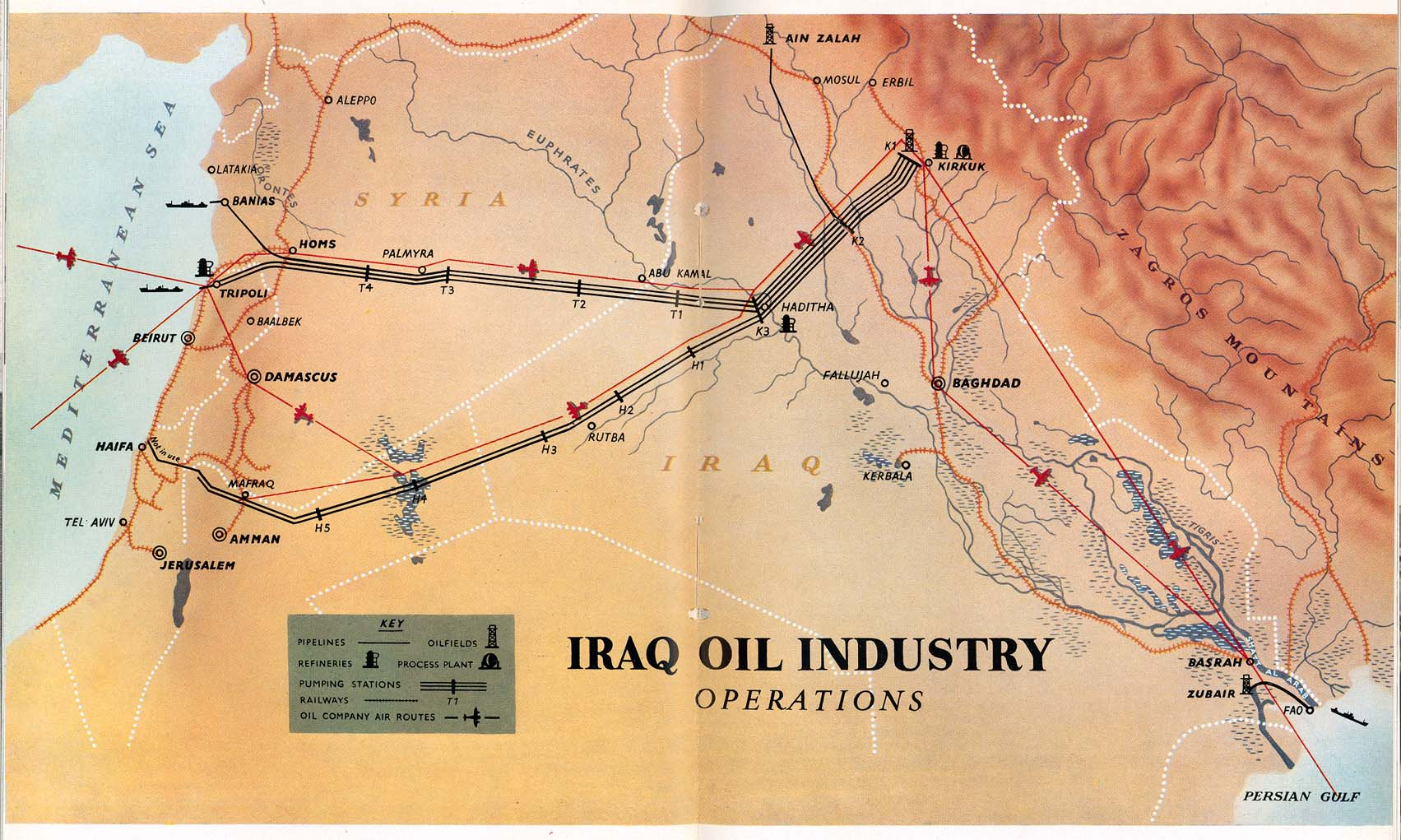 Iraq Oil Industry Operations 1953