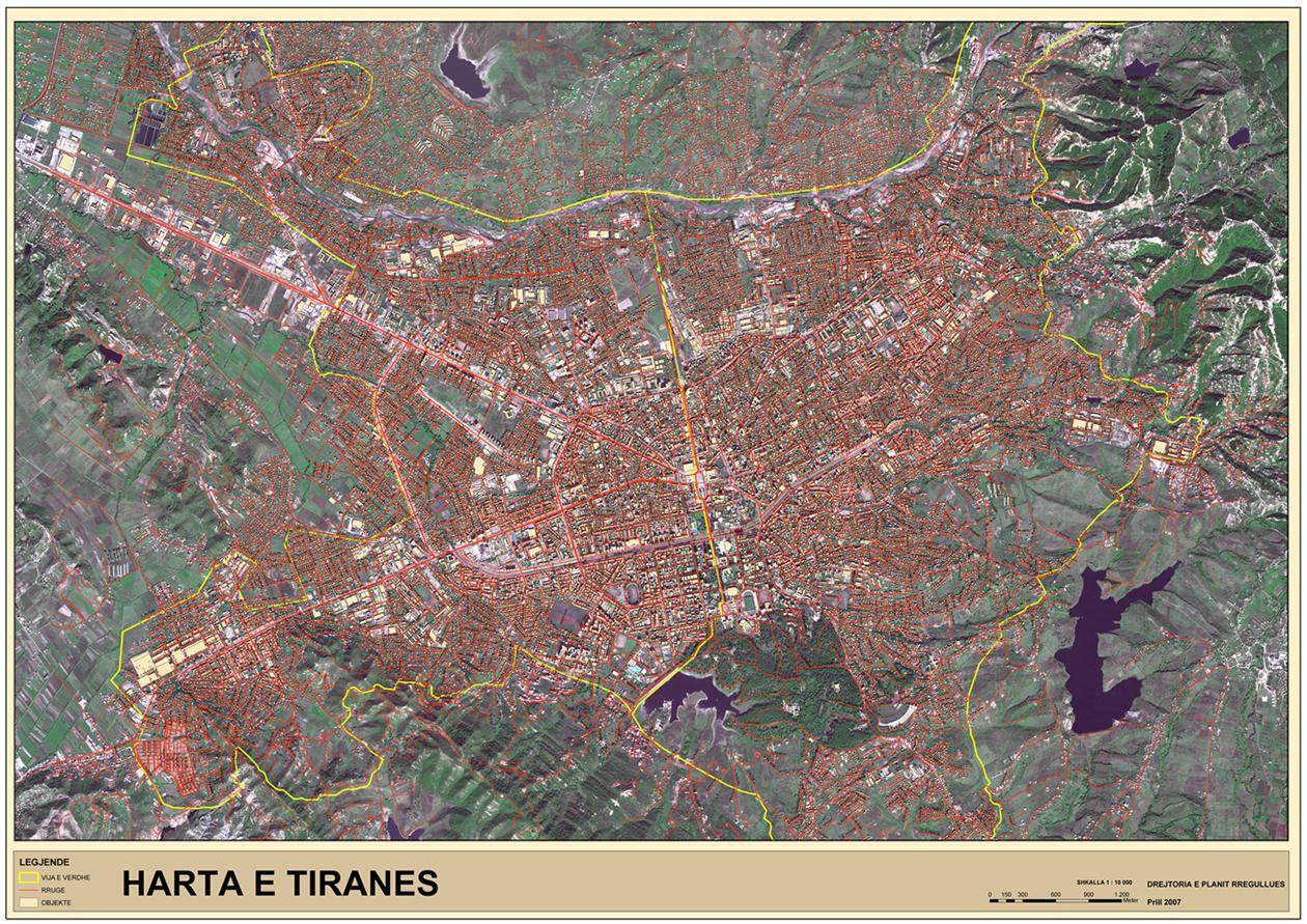Ortofoto de Tirana 2007