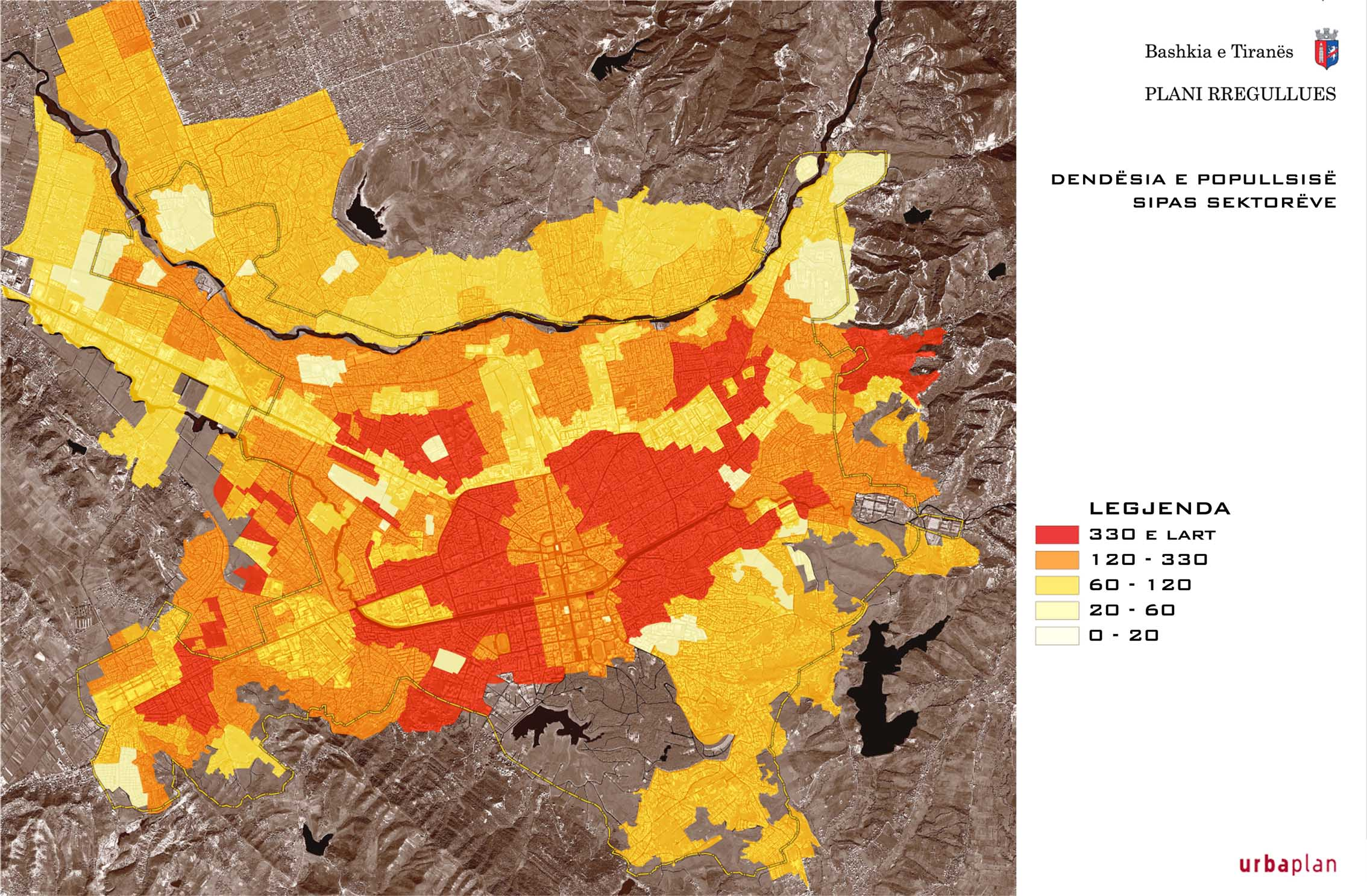 Population density of Tirana