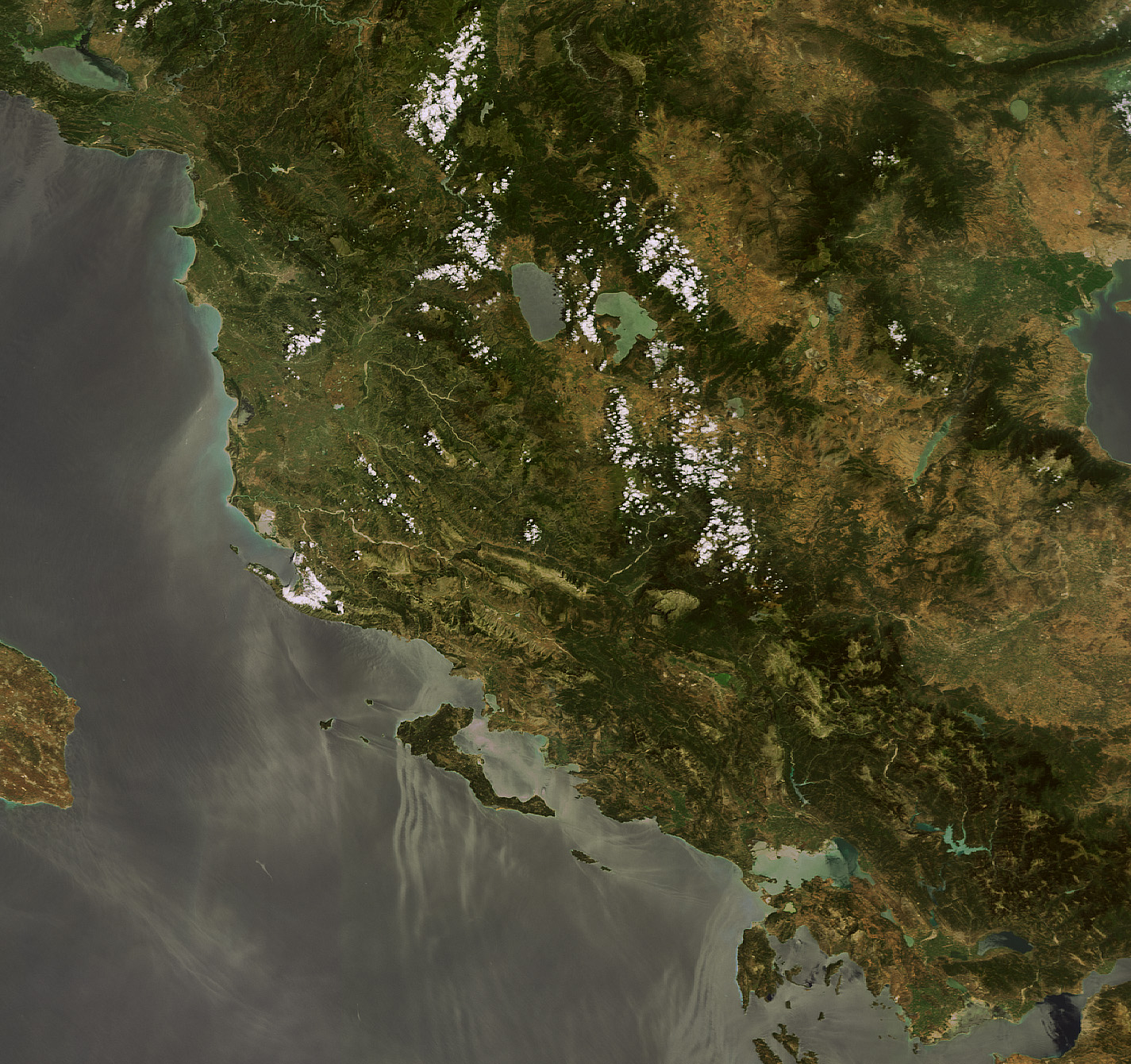 Satellite view of Albania 2009