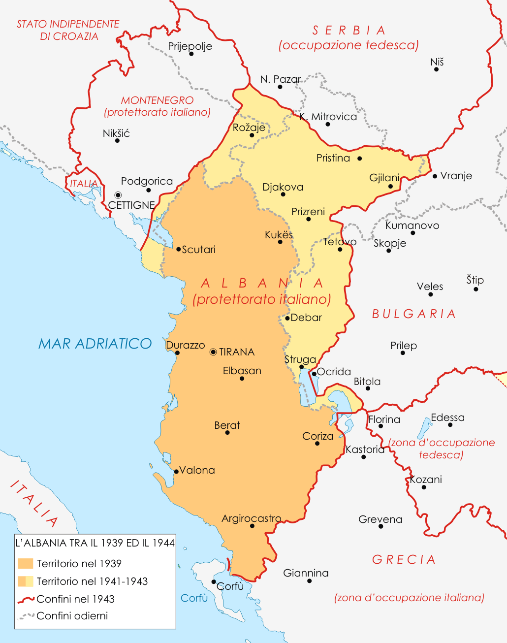 Albania durante la Segunda Guerra Mundial