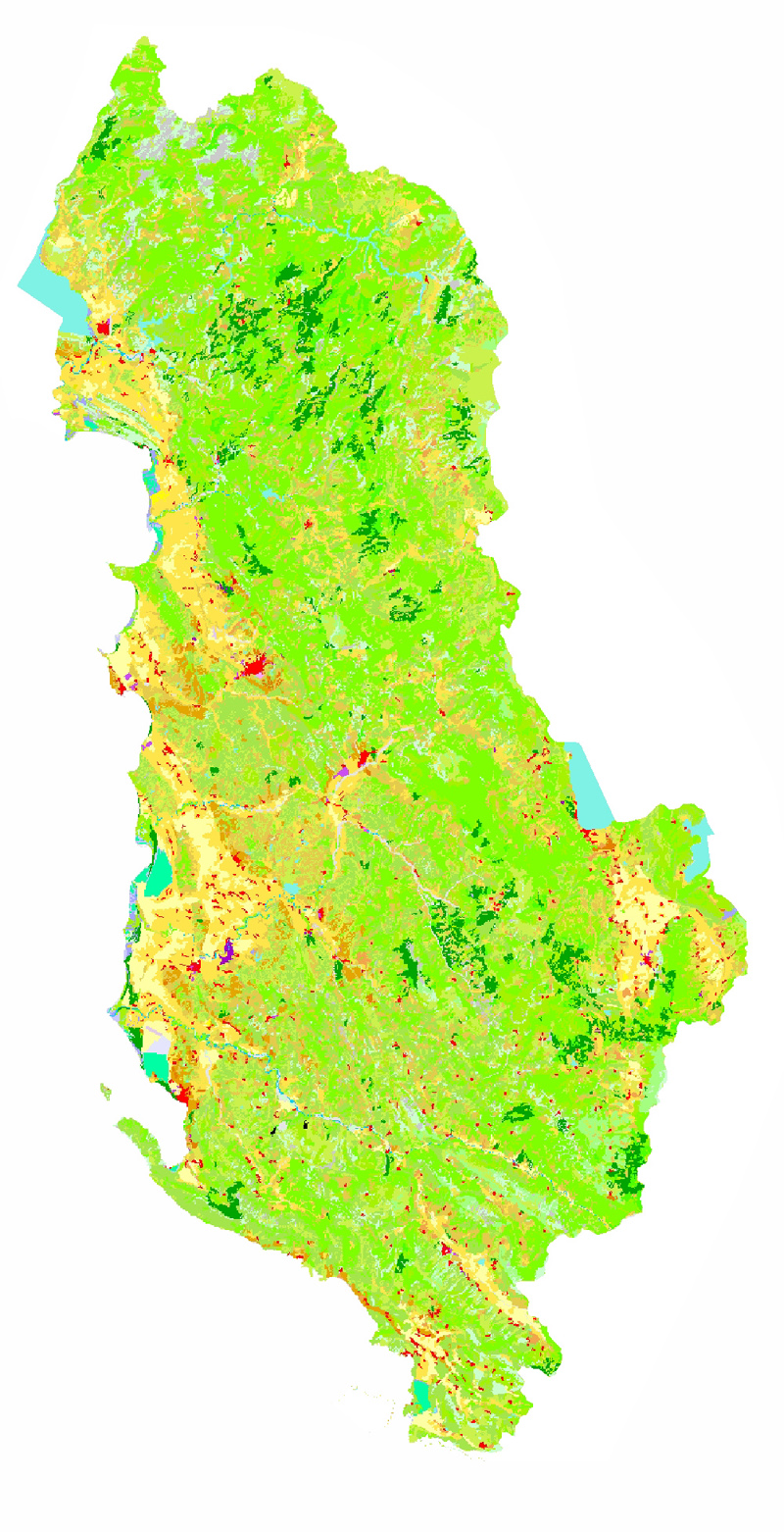 Corine Land Cover 2000 of Albania