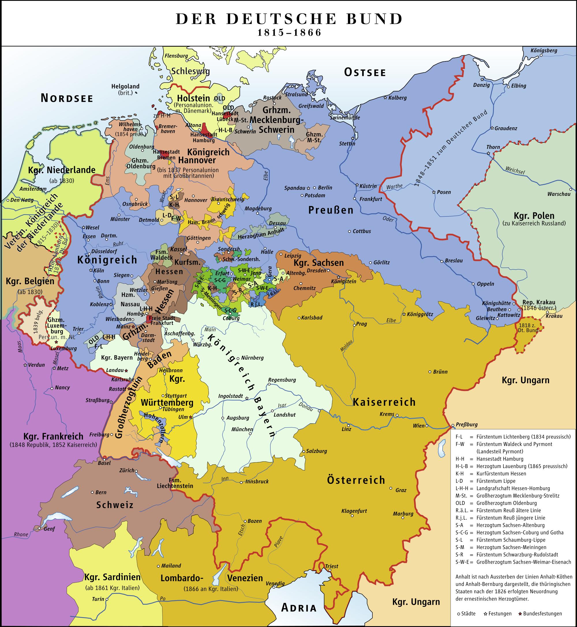 Confederación Germánica 1815–1866