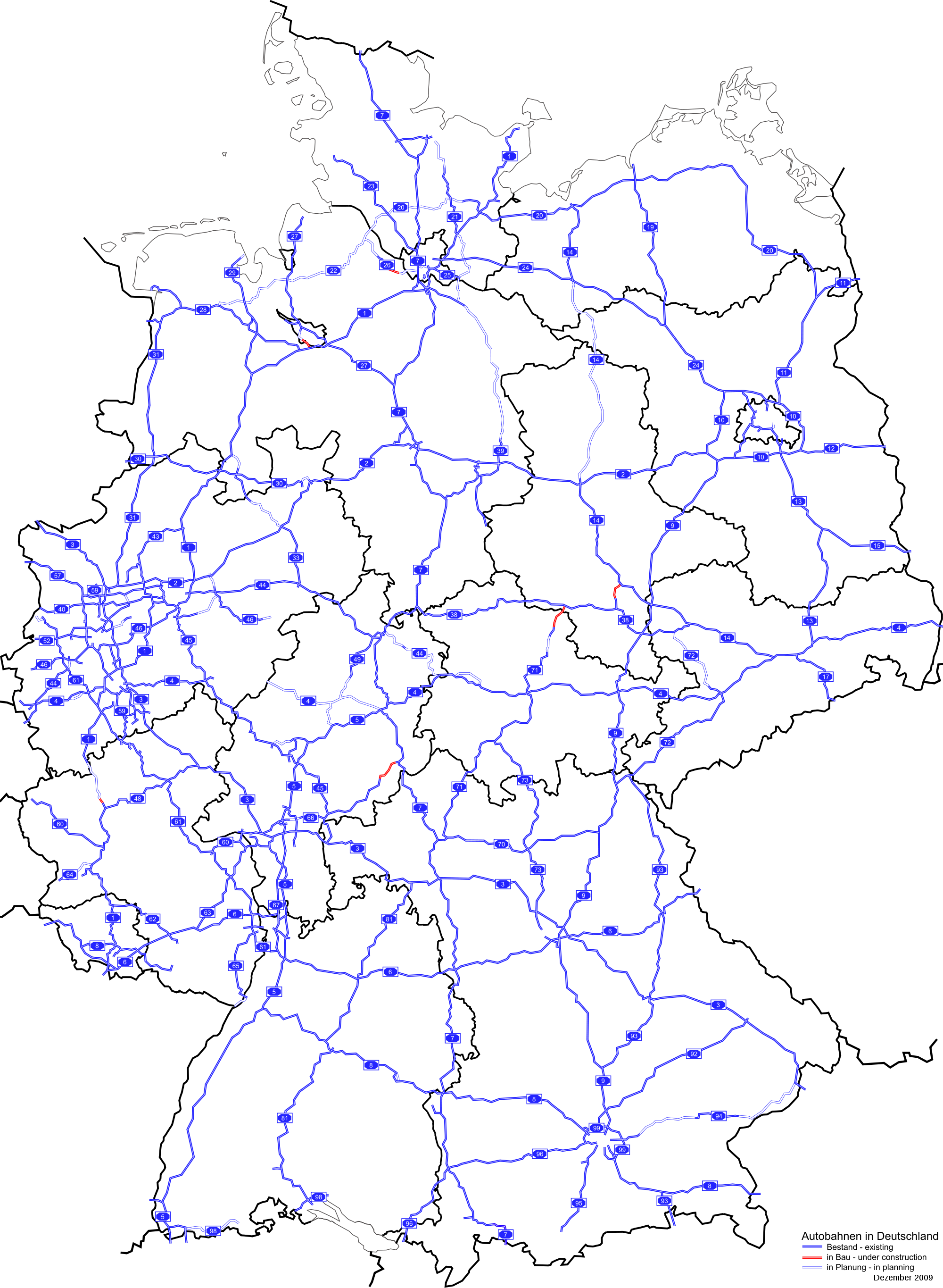 Germany road map 2009