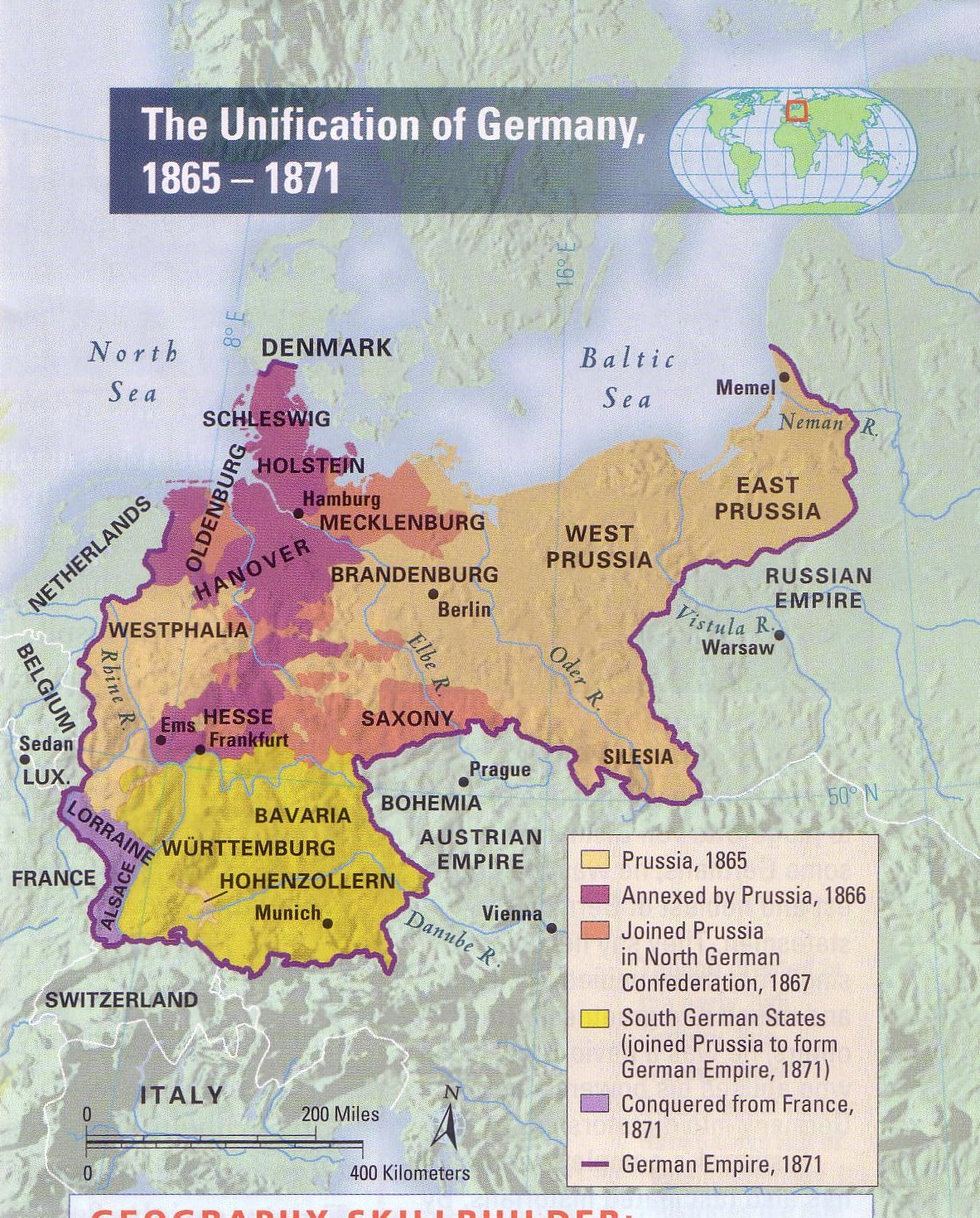 The unification of Germany 1865-1871