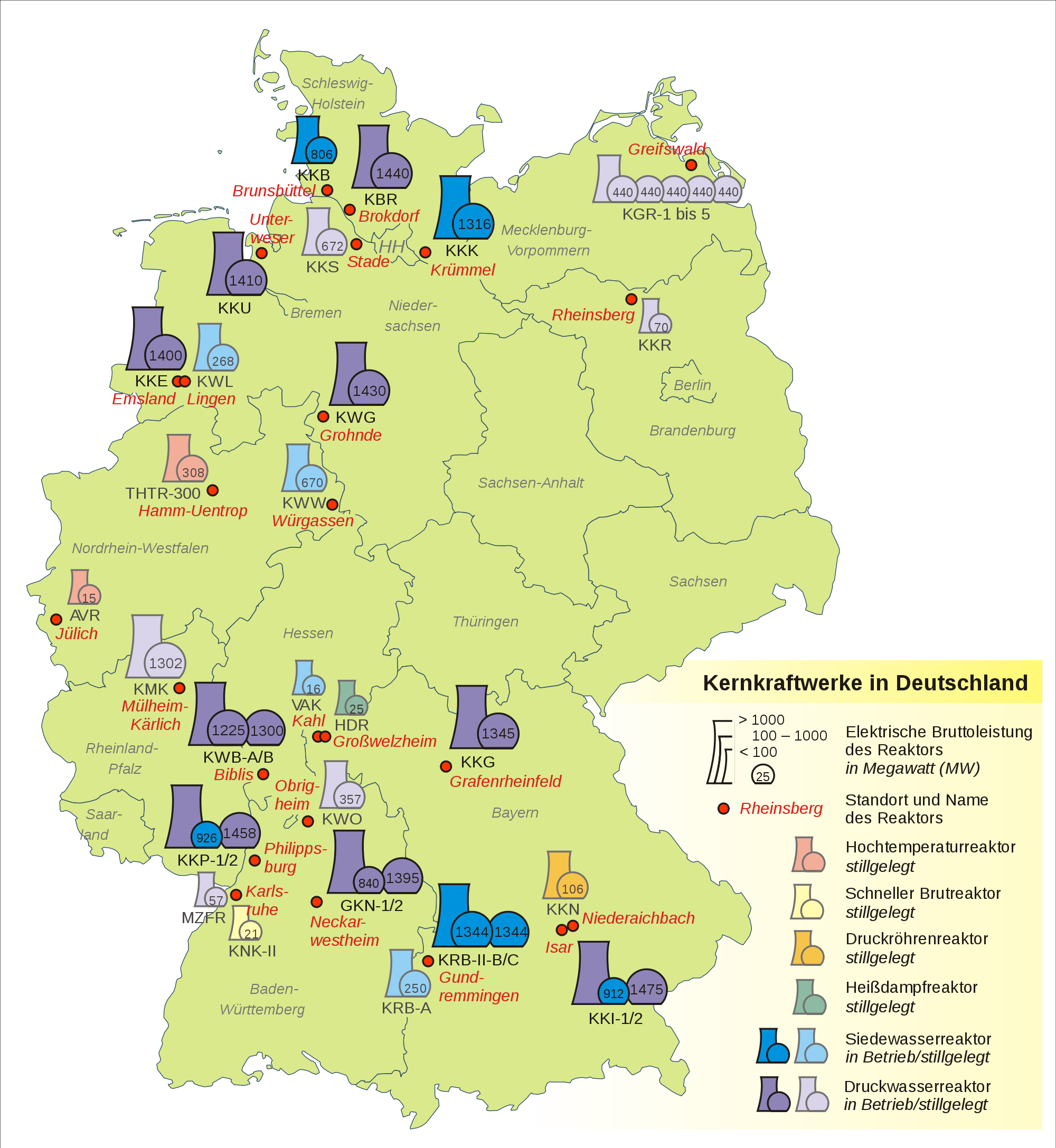 Nuclear power plants in Germany 2007