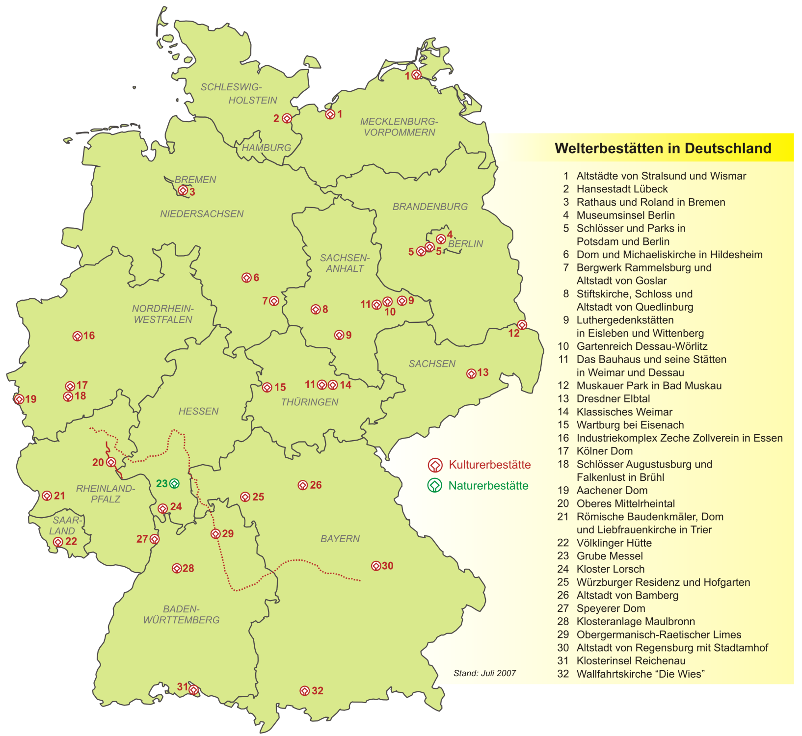 Heritage Sites in Germany 2007