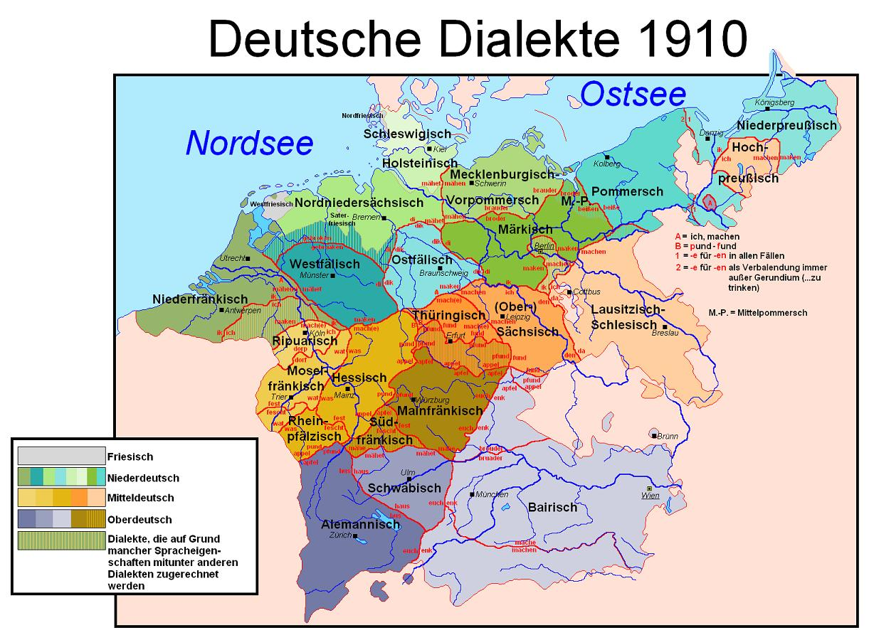 German Dialects 1910