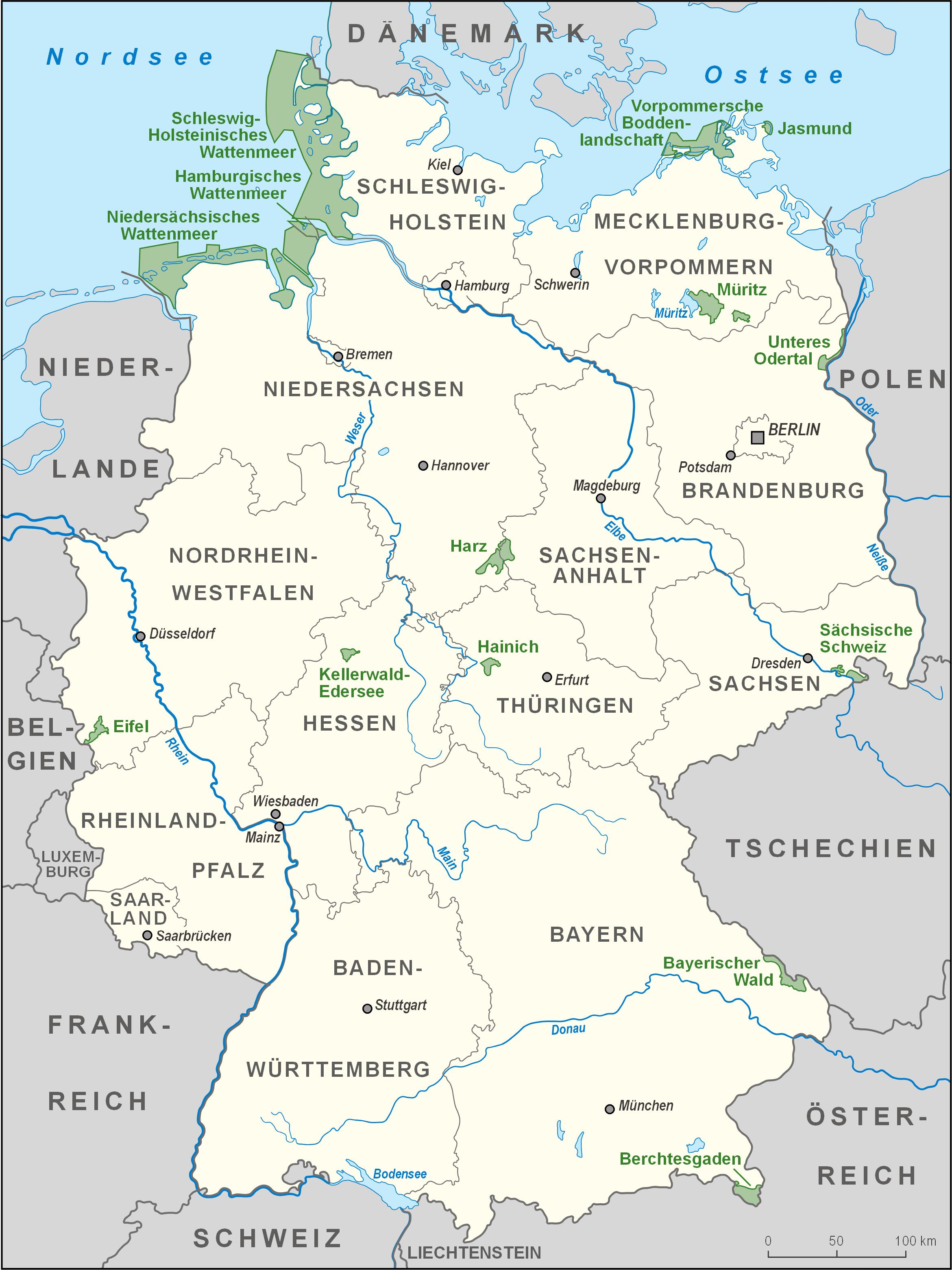 Parques nacionales de Alemania 2008