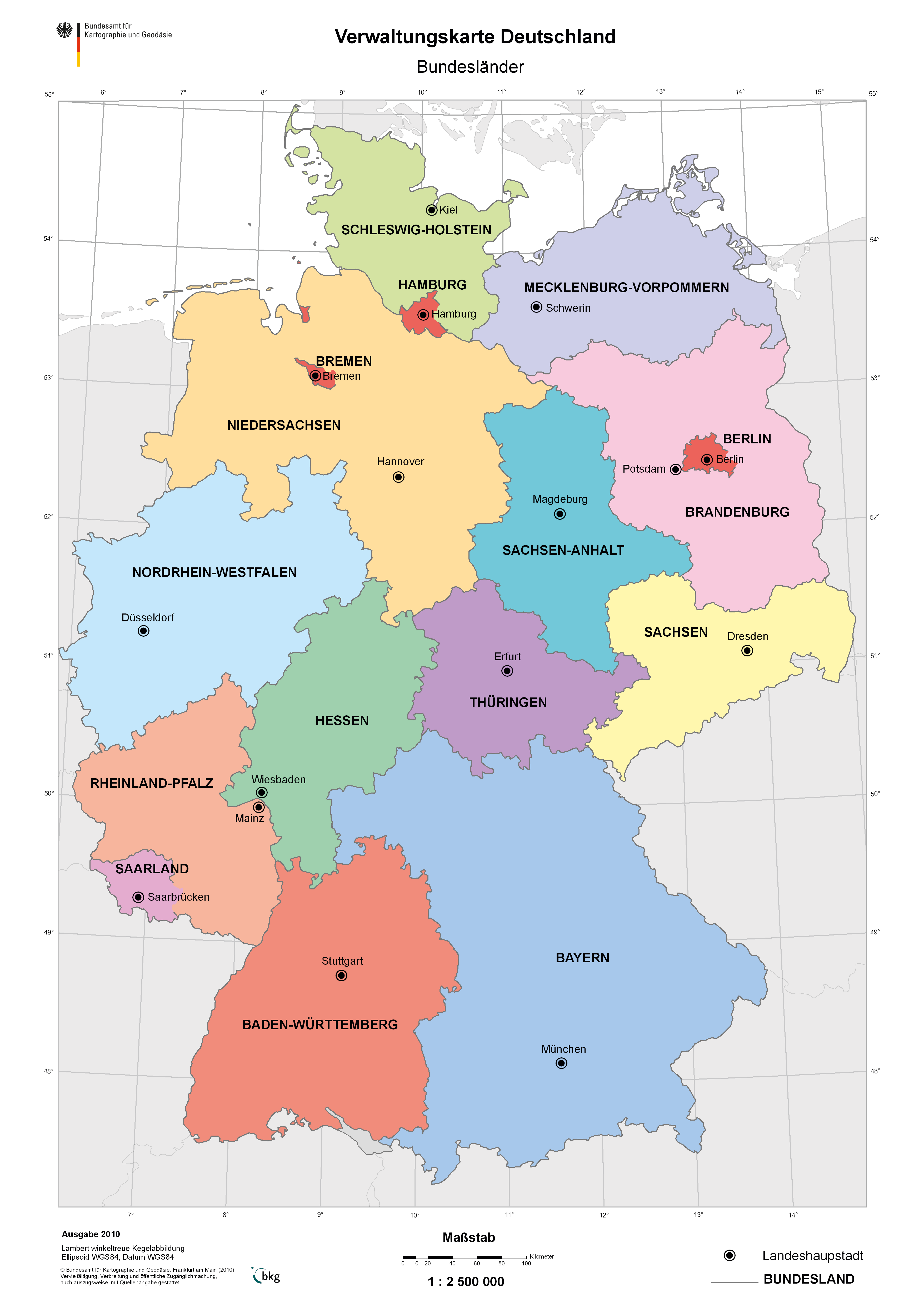 The german states 2010
