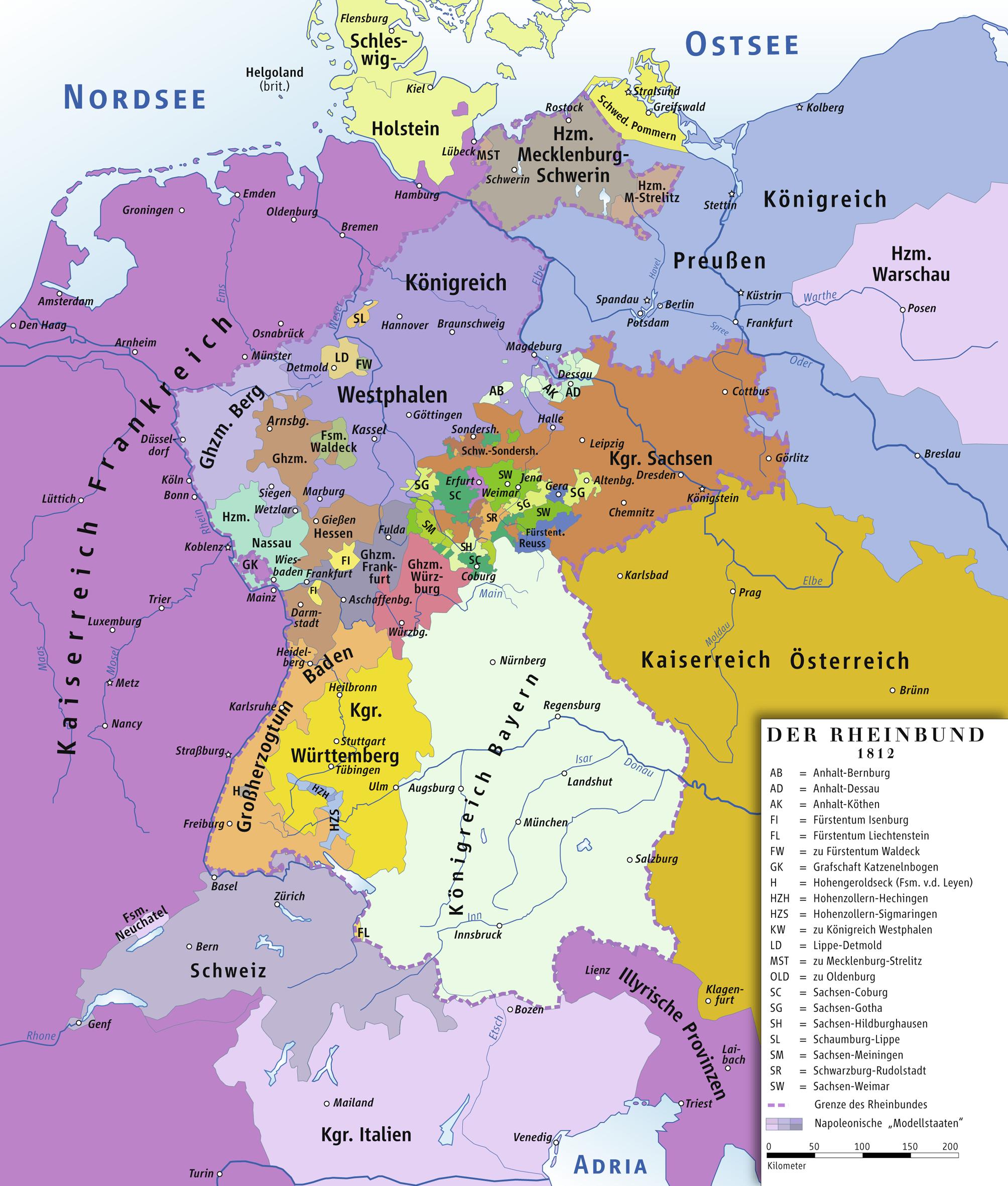 Confederación del Rin 1812