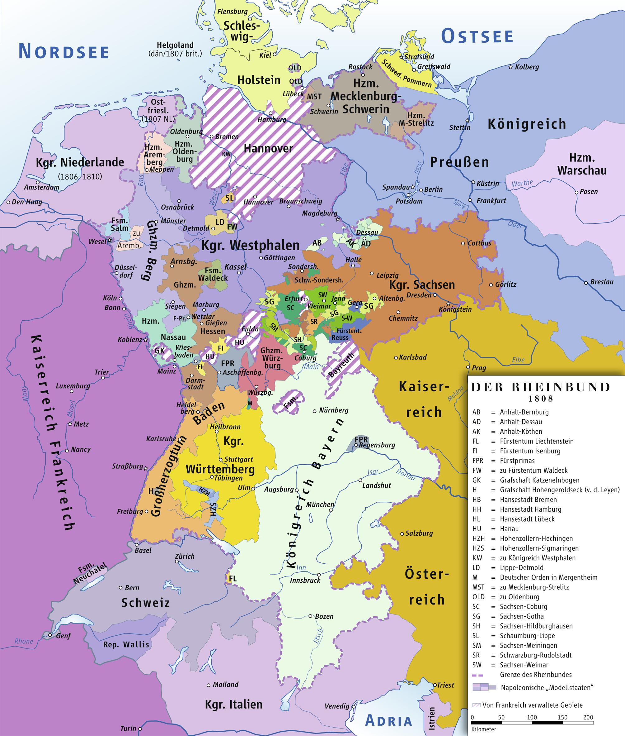 Confederación del Rin 1808