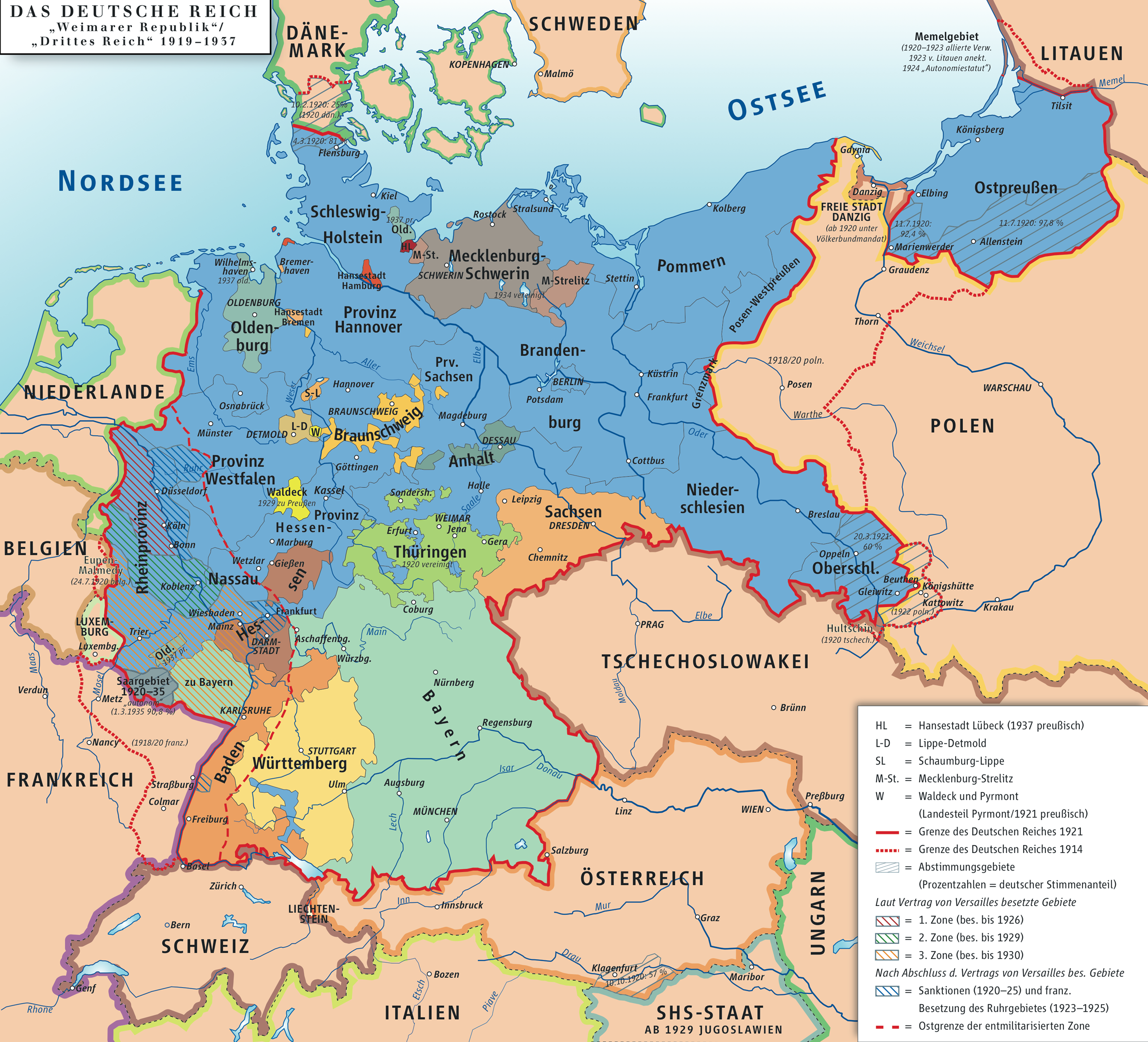 Germany Republic of Weimar and Third Reich 1919–1937
