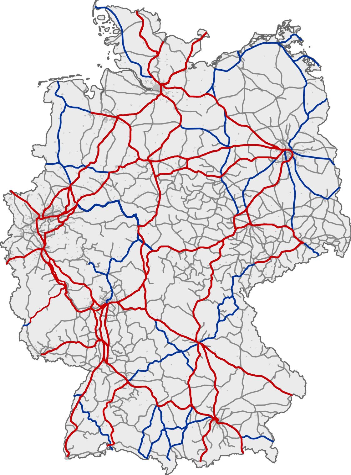 La red ferroviaria de Alemania 2010