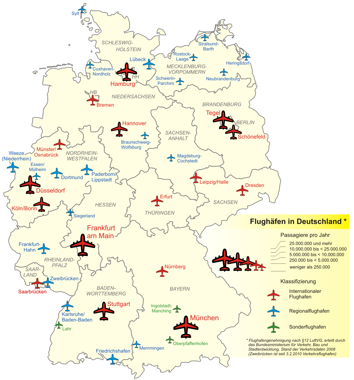 Aeropuertos en Alemania 2008