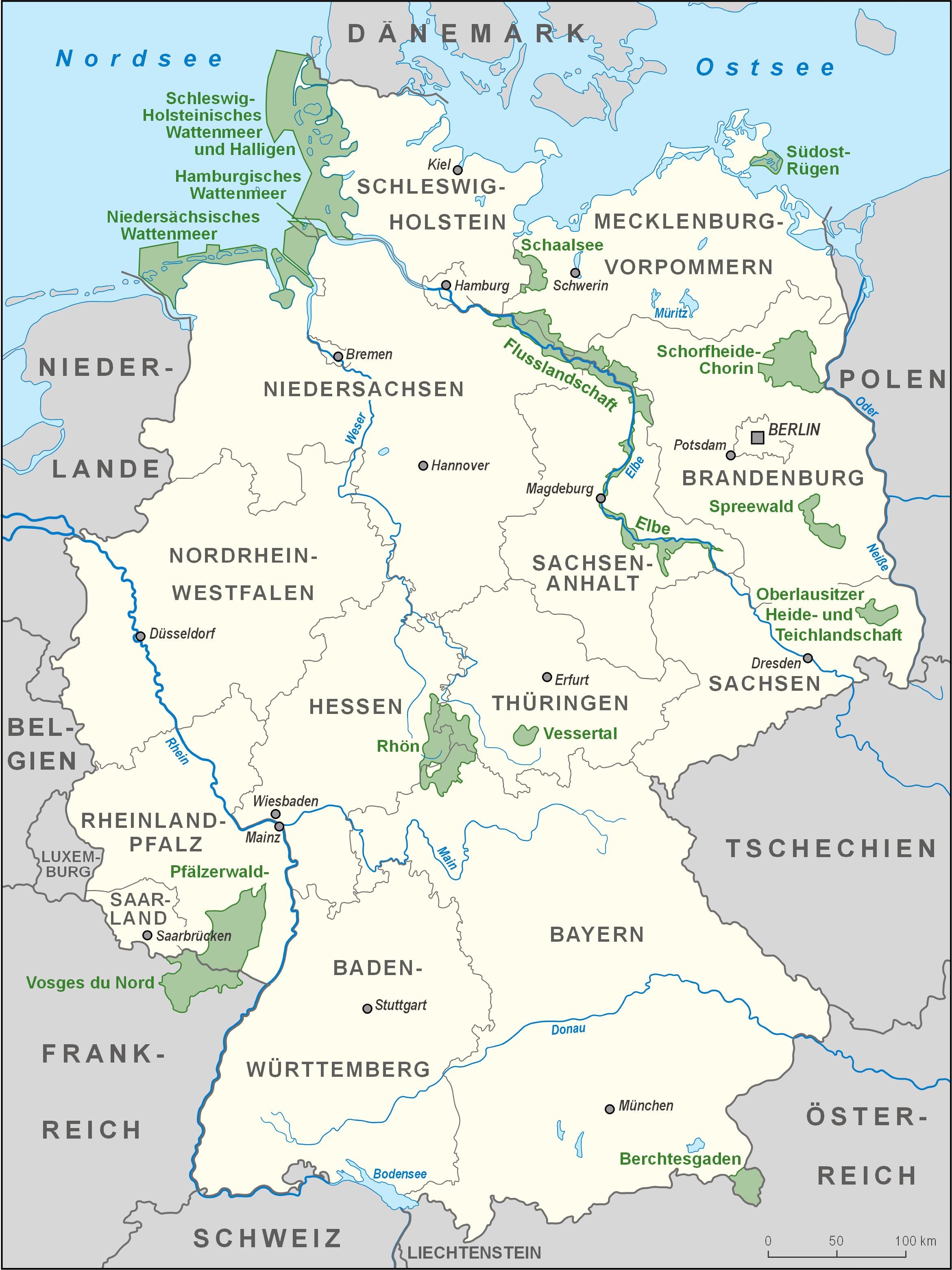 Biosphere Reserves in Germany 2008