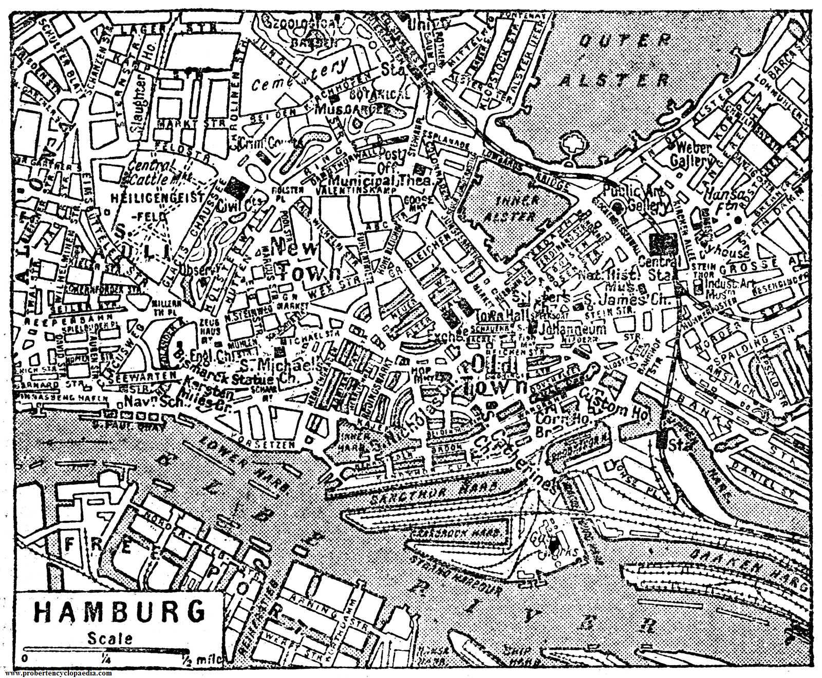 Map of Hamburg 1932