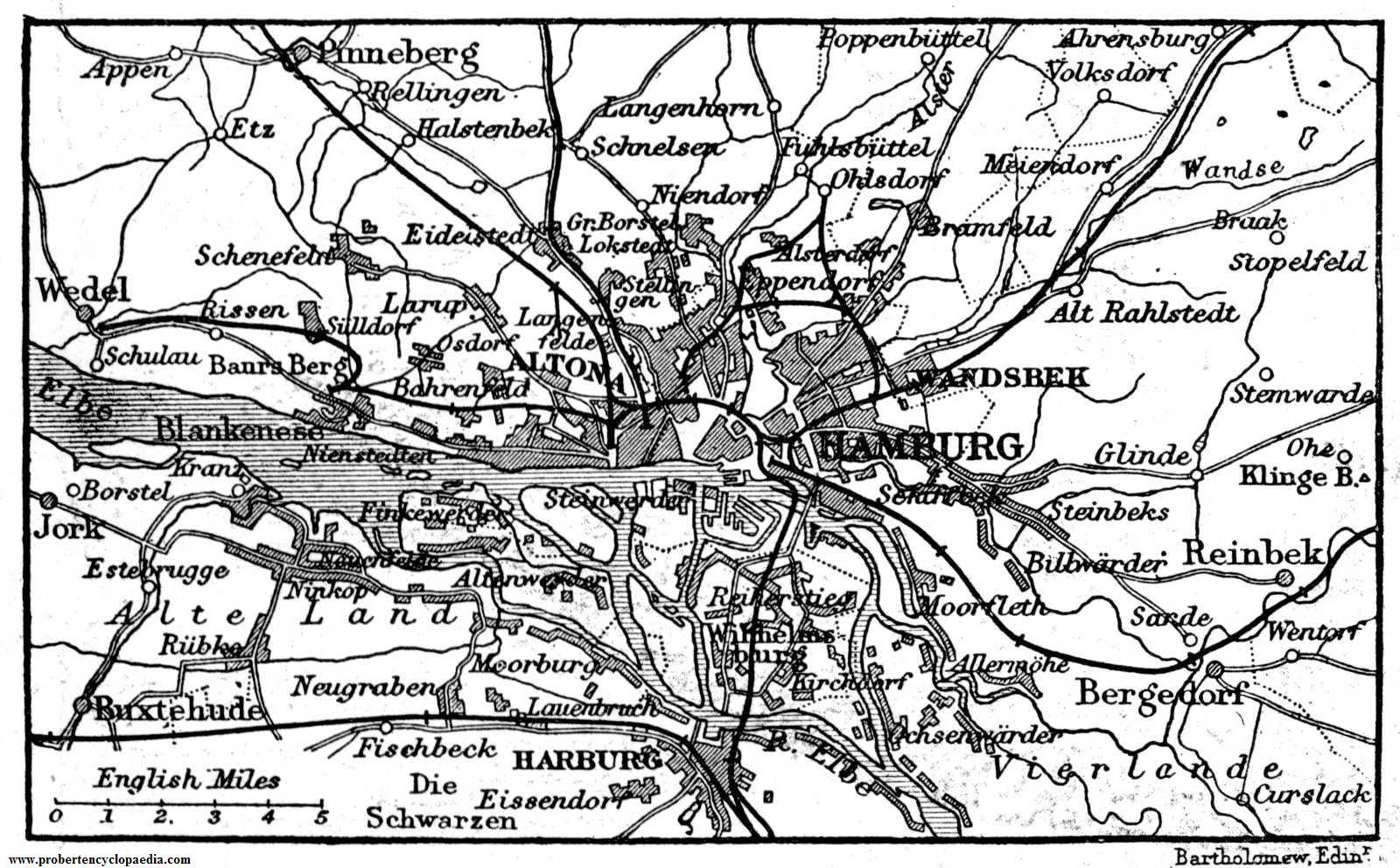 Hamburg and its environs 1906