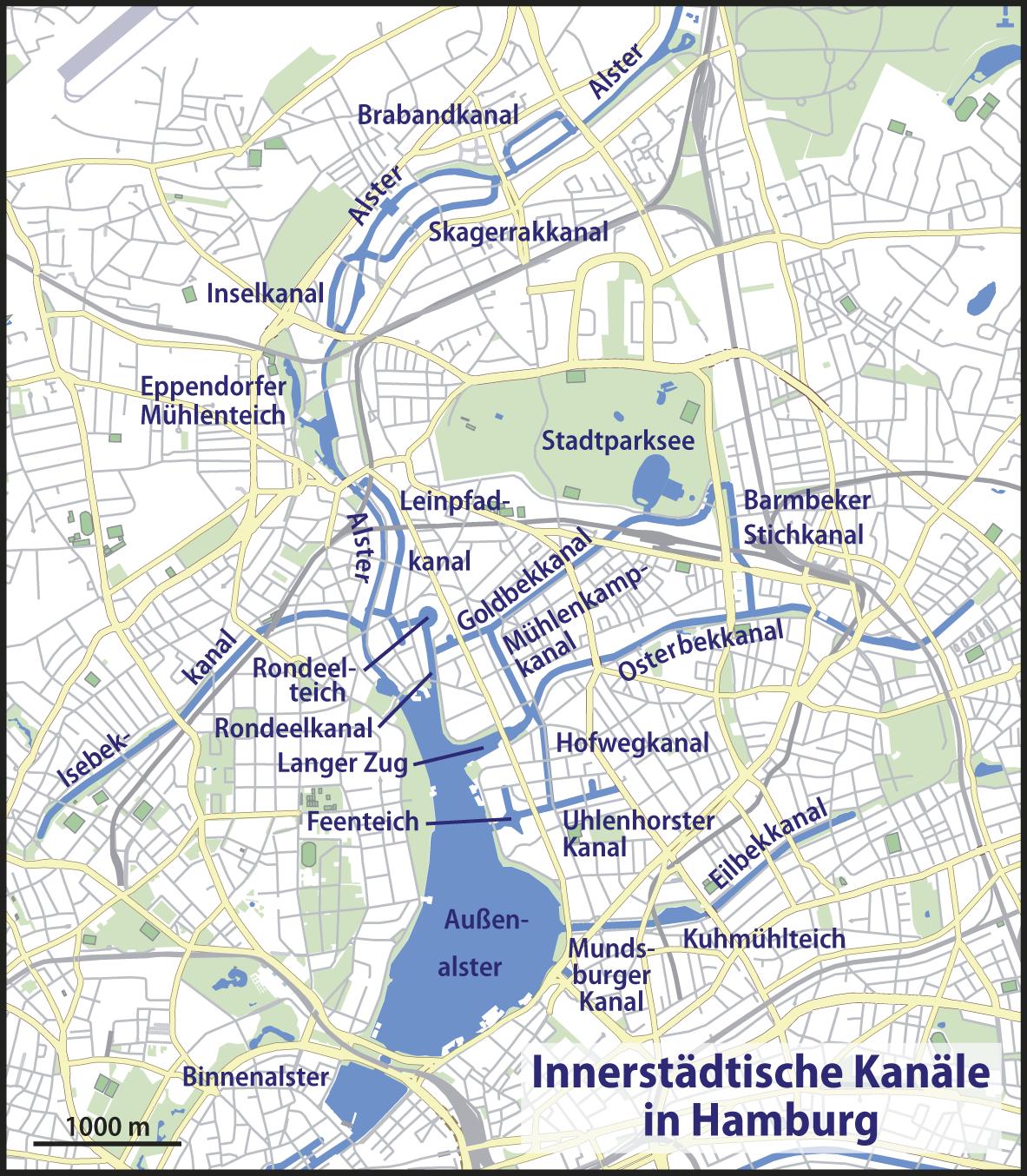 Canals in Hamburg 2009