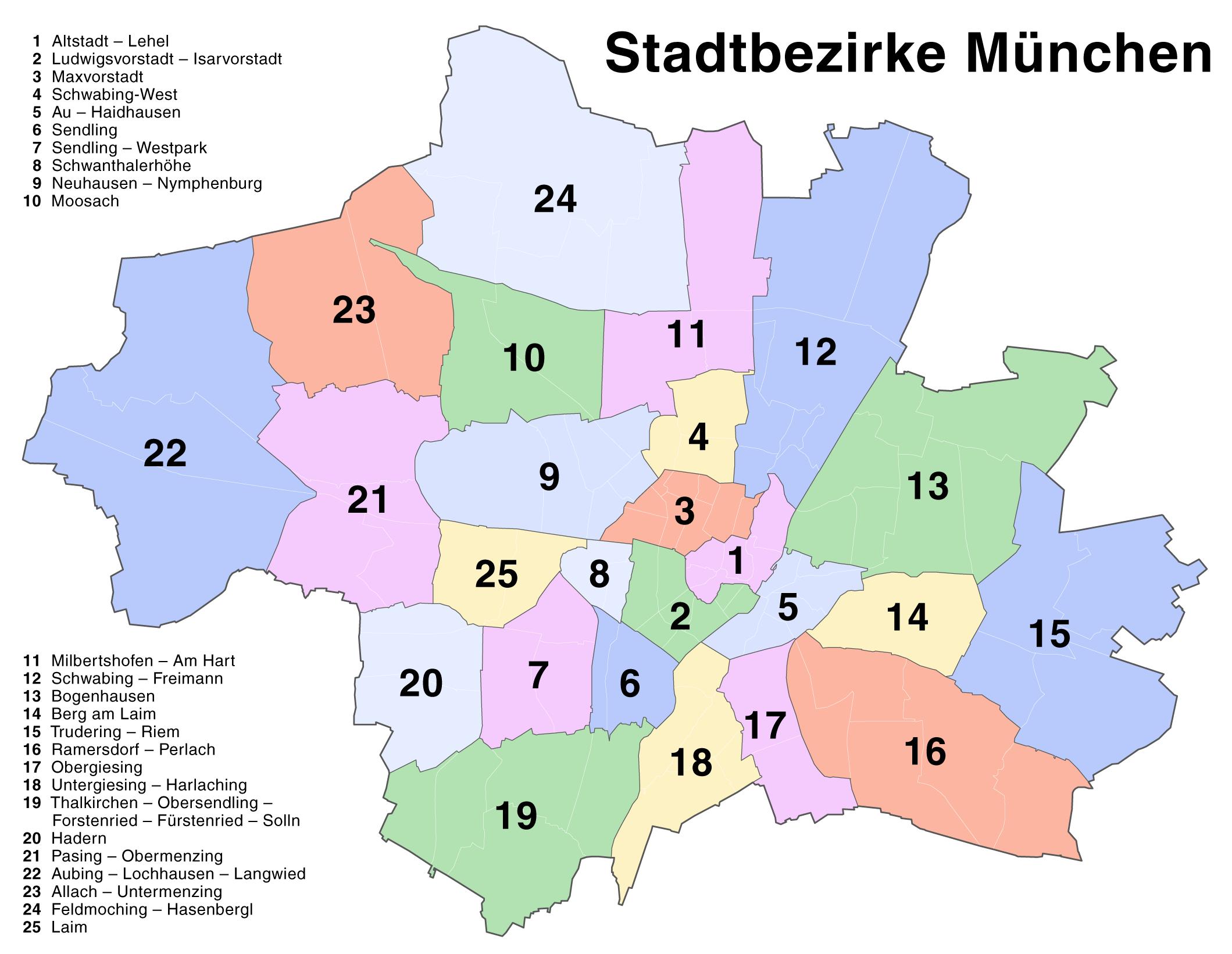 Boroughs of Munich 2007