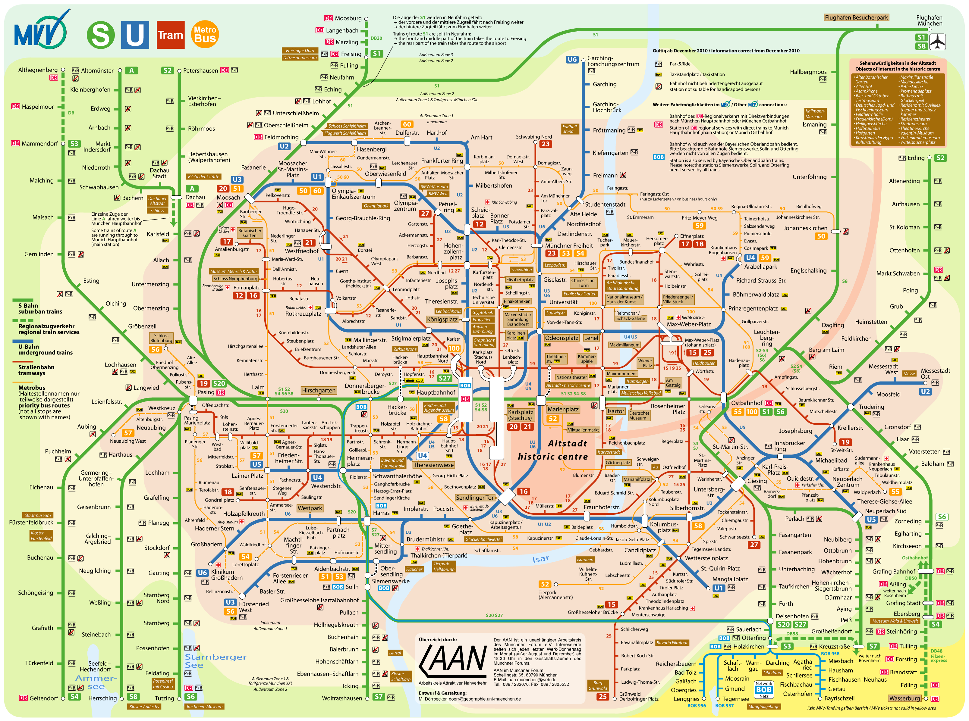 Munich's Public Transport Network 2009