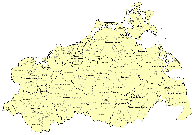 Mapa de Mecklemburgo-Pomerania Occidental 2009