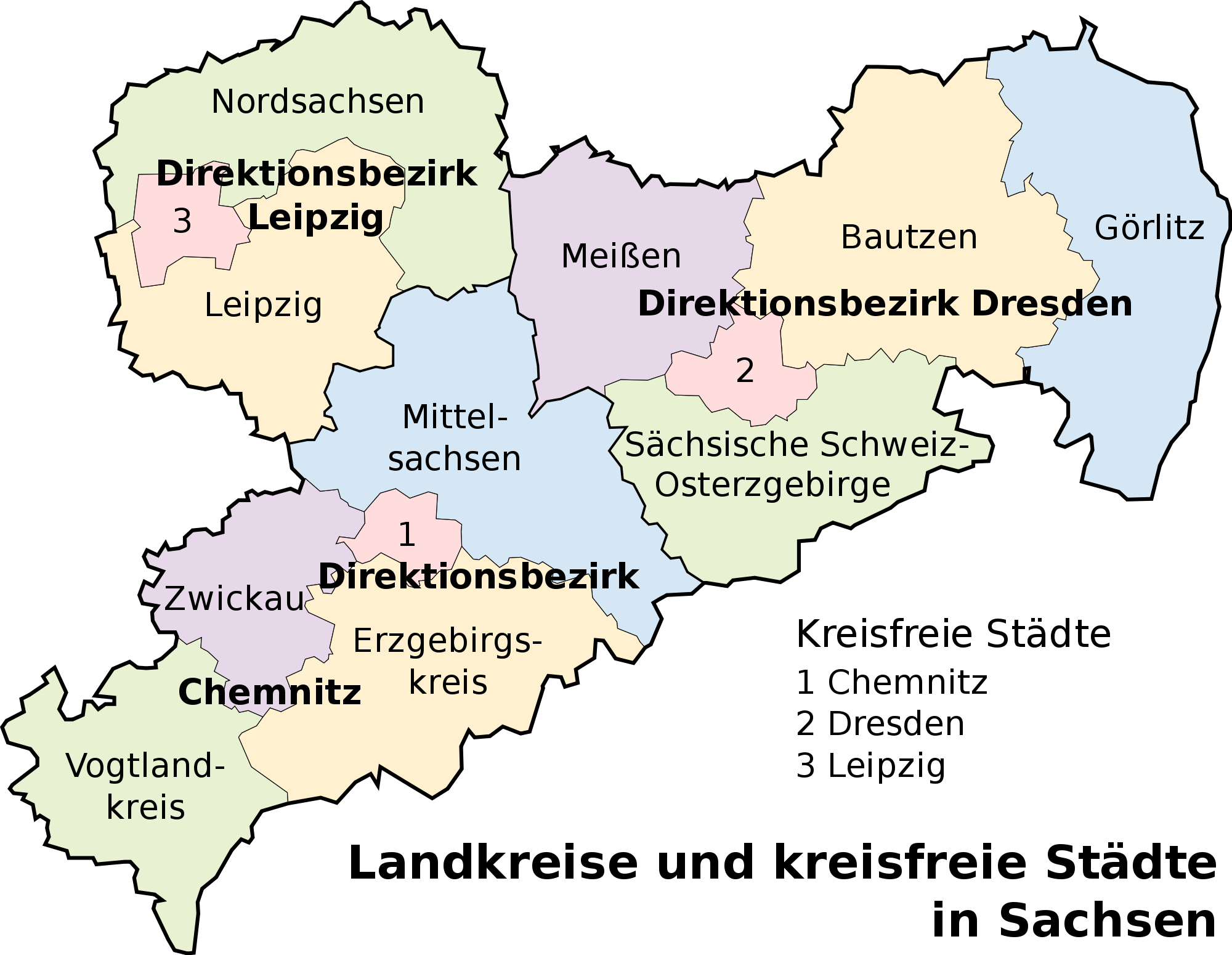 Map of Saxony 2008