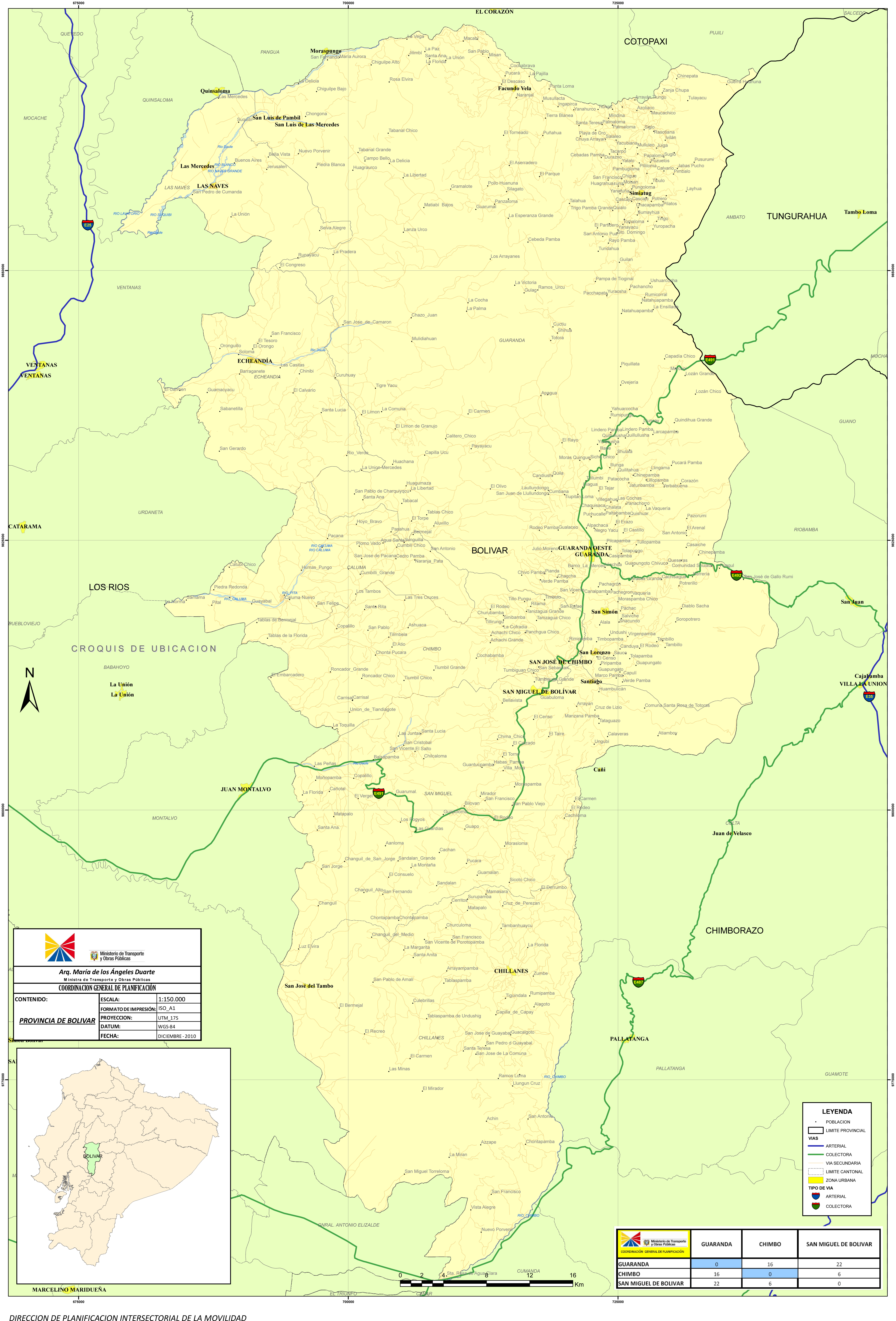 Map of Bolívar 2010