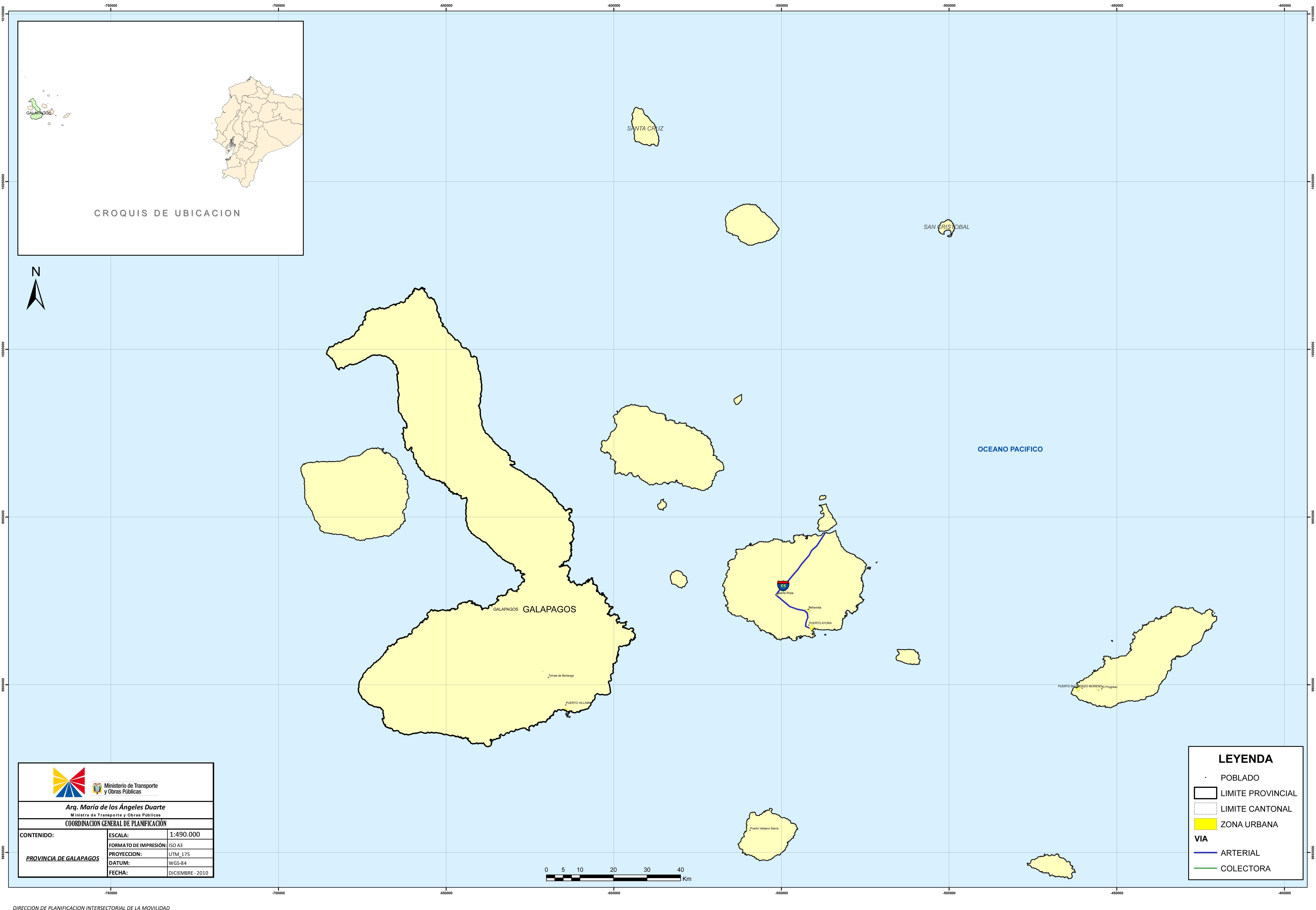 Mapa de Galápagos 2010