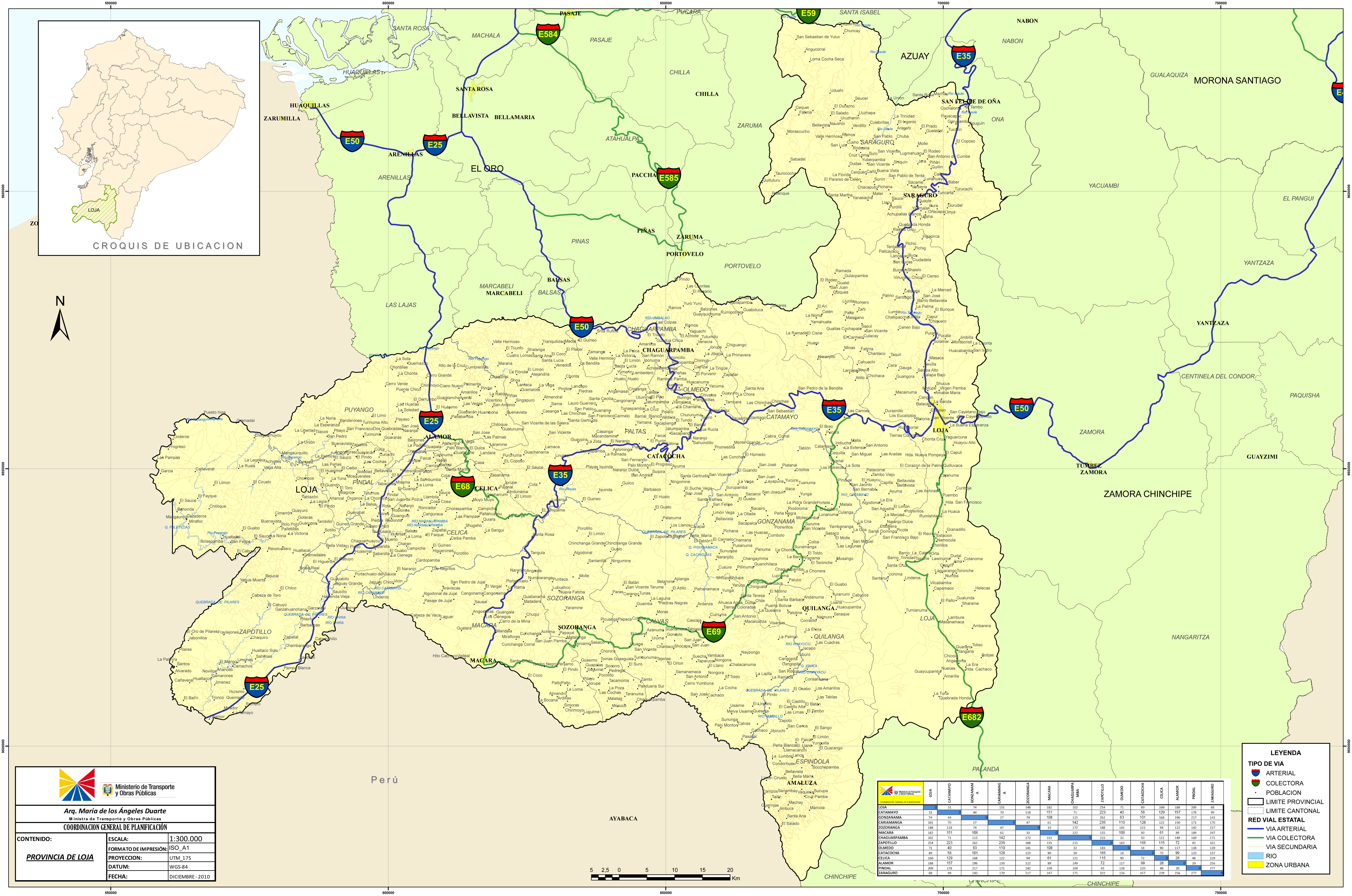 Map of Loja 2010