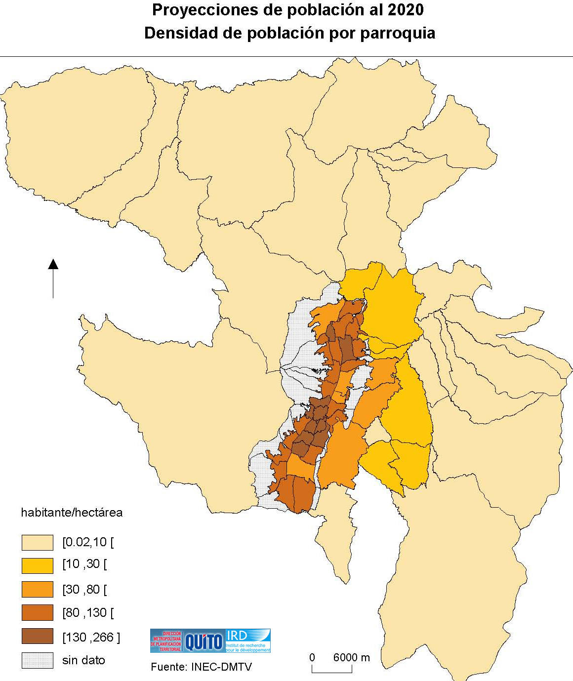 Population projections of the Metropolitan District of Quito in 2020