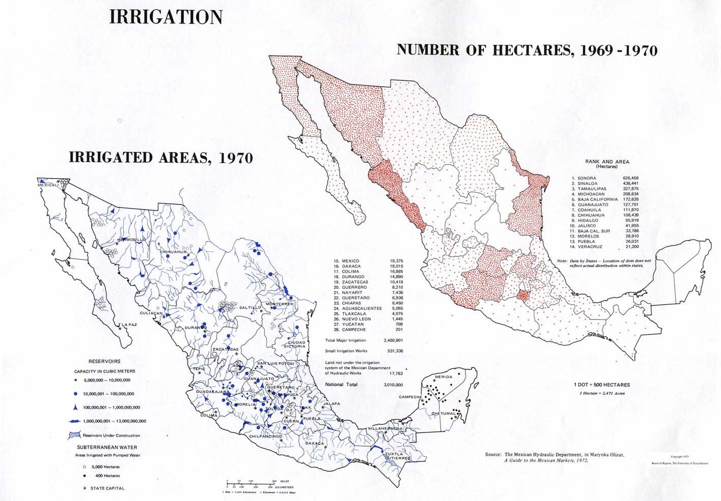 Irrigation in Mexico 1969 - 1970