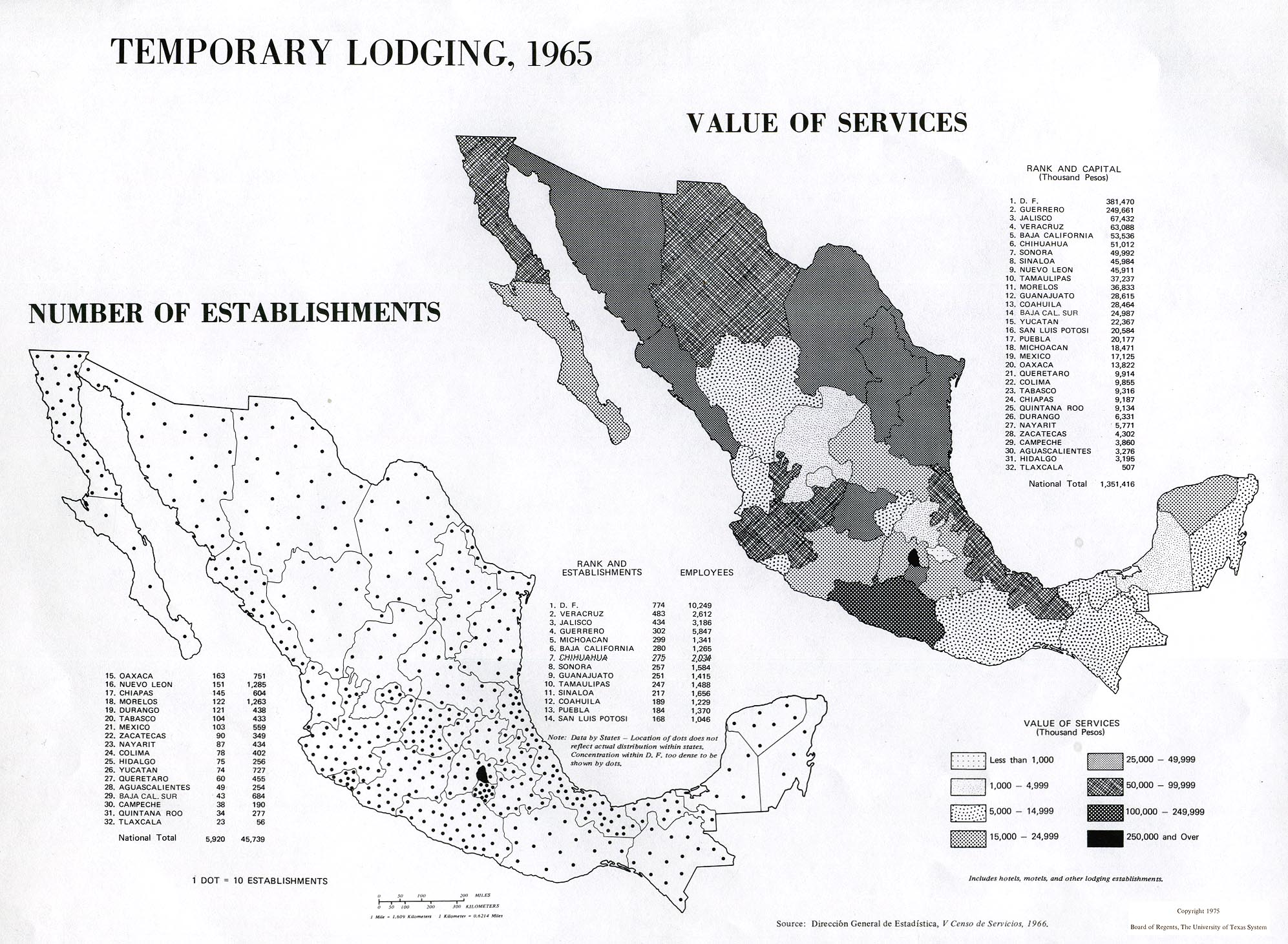 Temporary Lodging in Mexico 1965
