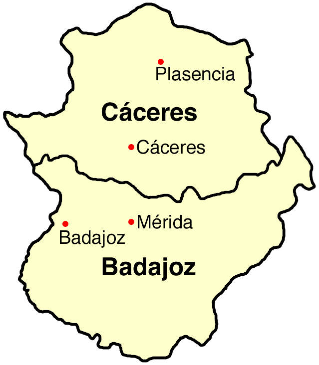 Extremadura map