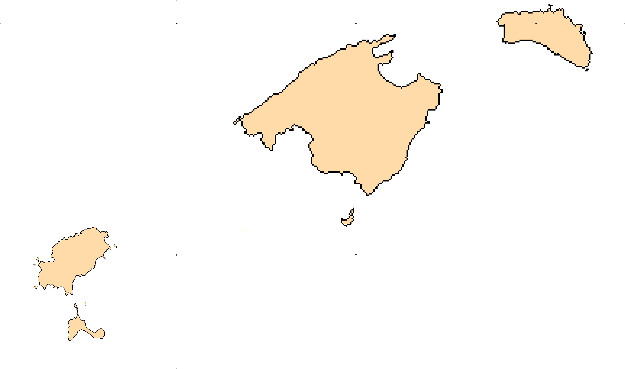 Outline map of Balearic Islands