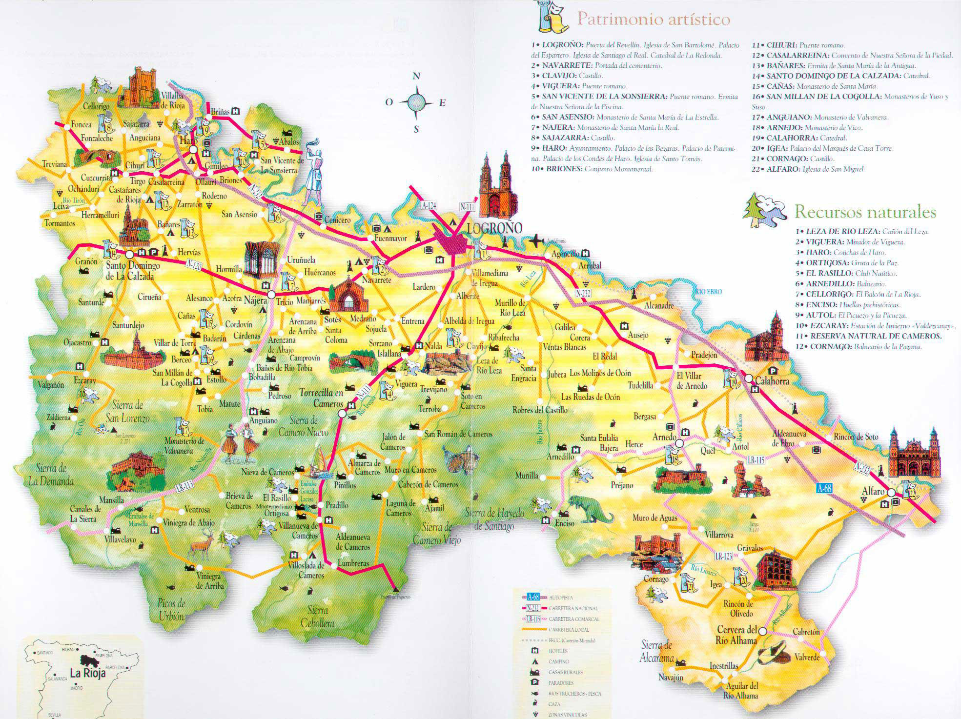 La Rioja tourist map