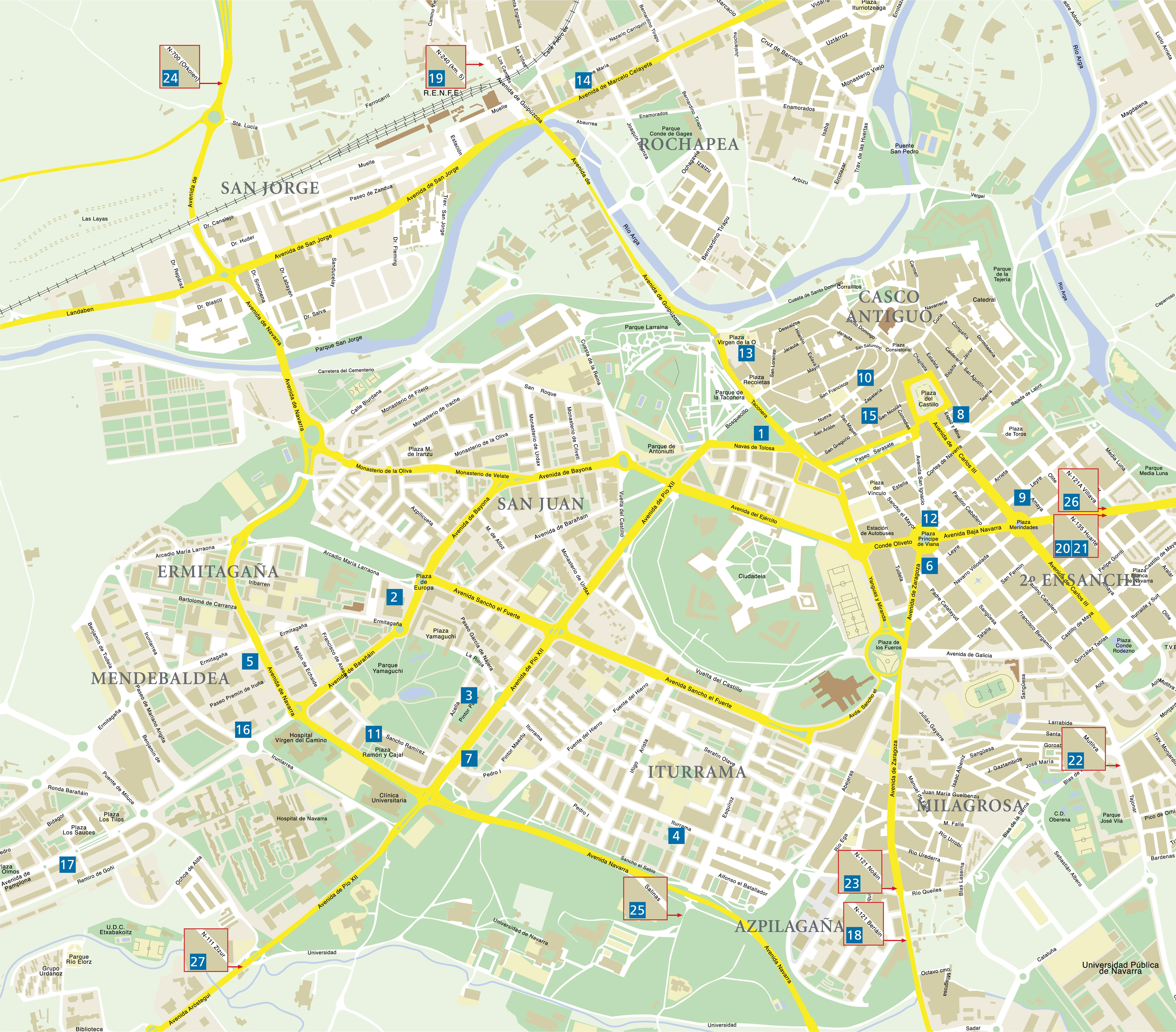 Map of Pamplona