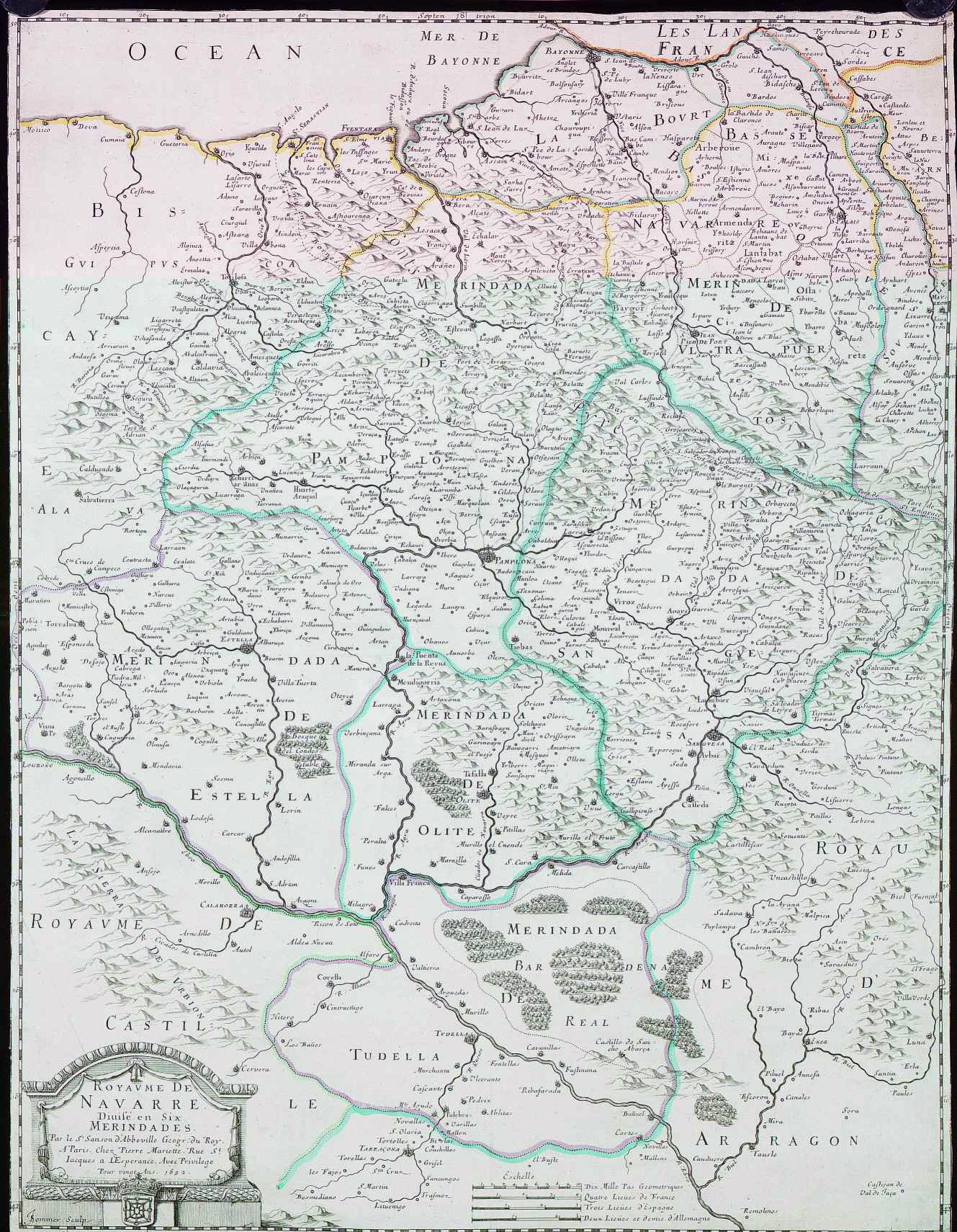 Kingdom of Navarre in six Merindades