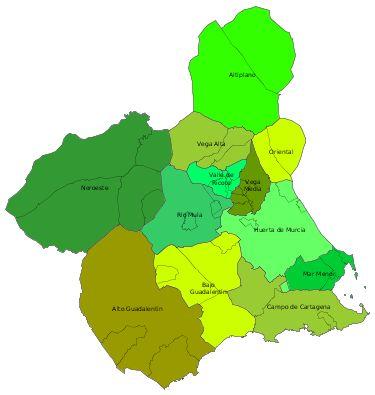 Comarcas de la Región de Murcia 2007