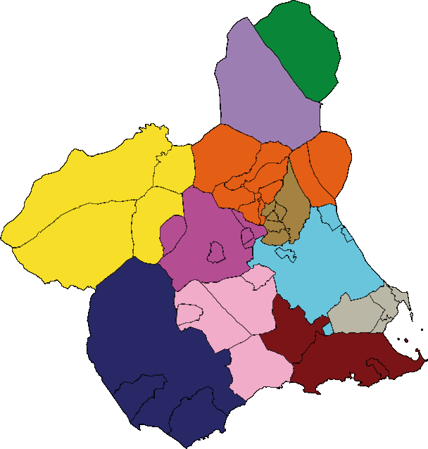 Legal or judicial district of Region of Murcia 2007