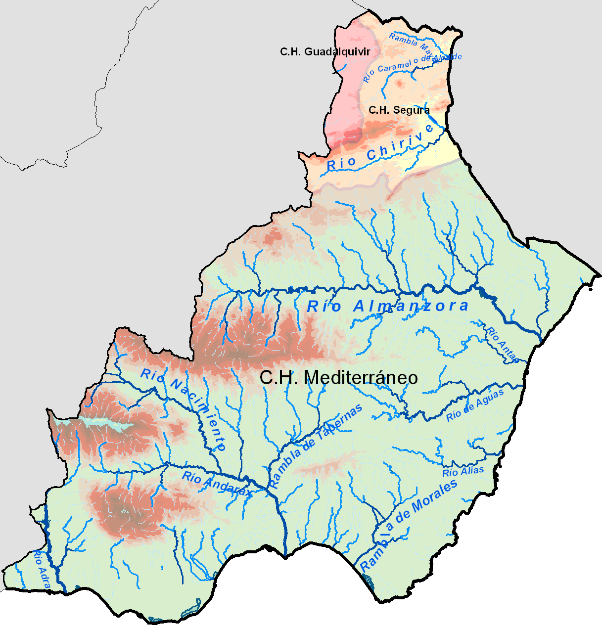 Hydrography of the province of Almería 2008