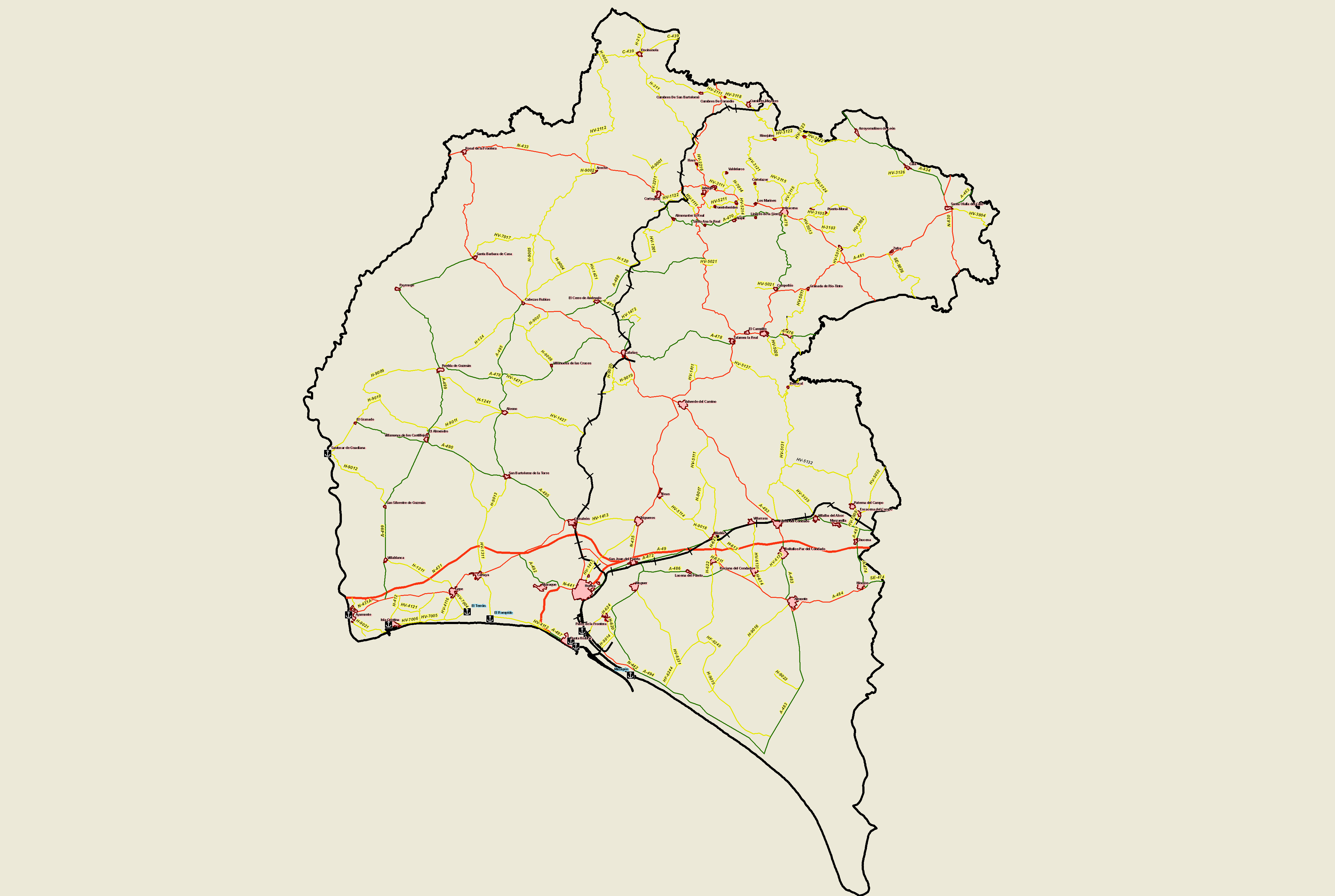 Transport and communications in the province of Huelva 2008