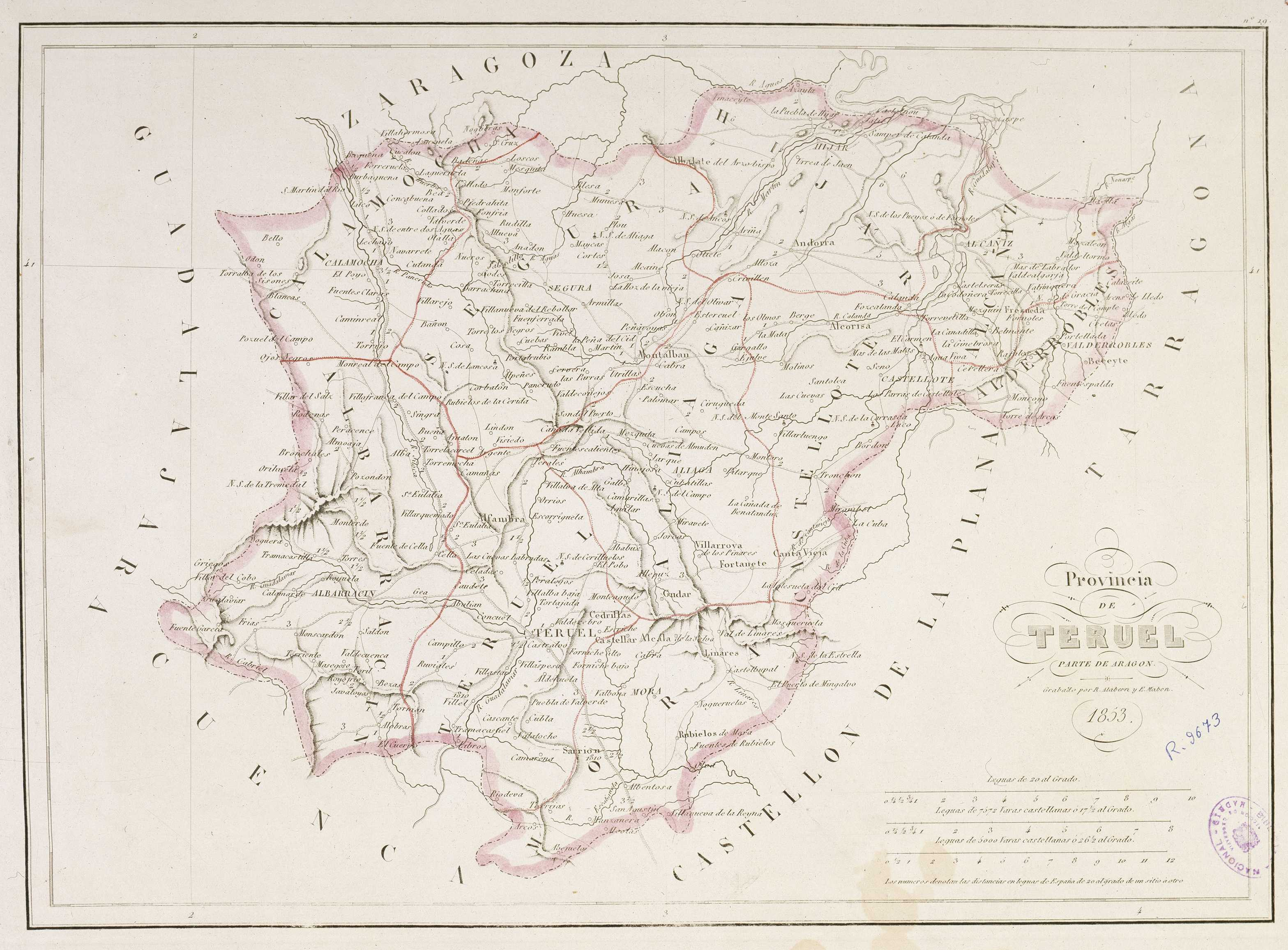 Province of Teruel 1853