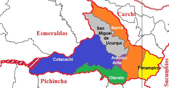 Cantons of Imbabura 2011