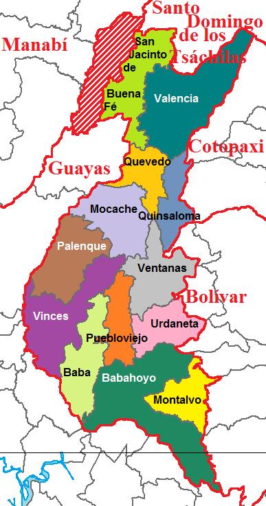Cantons of Los Ríos 2011