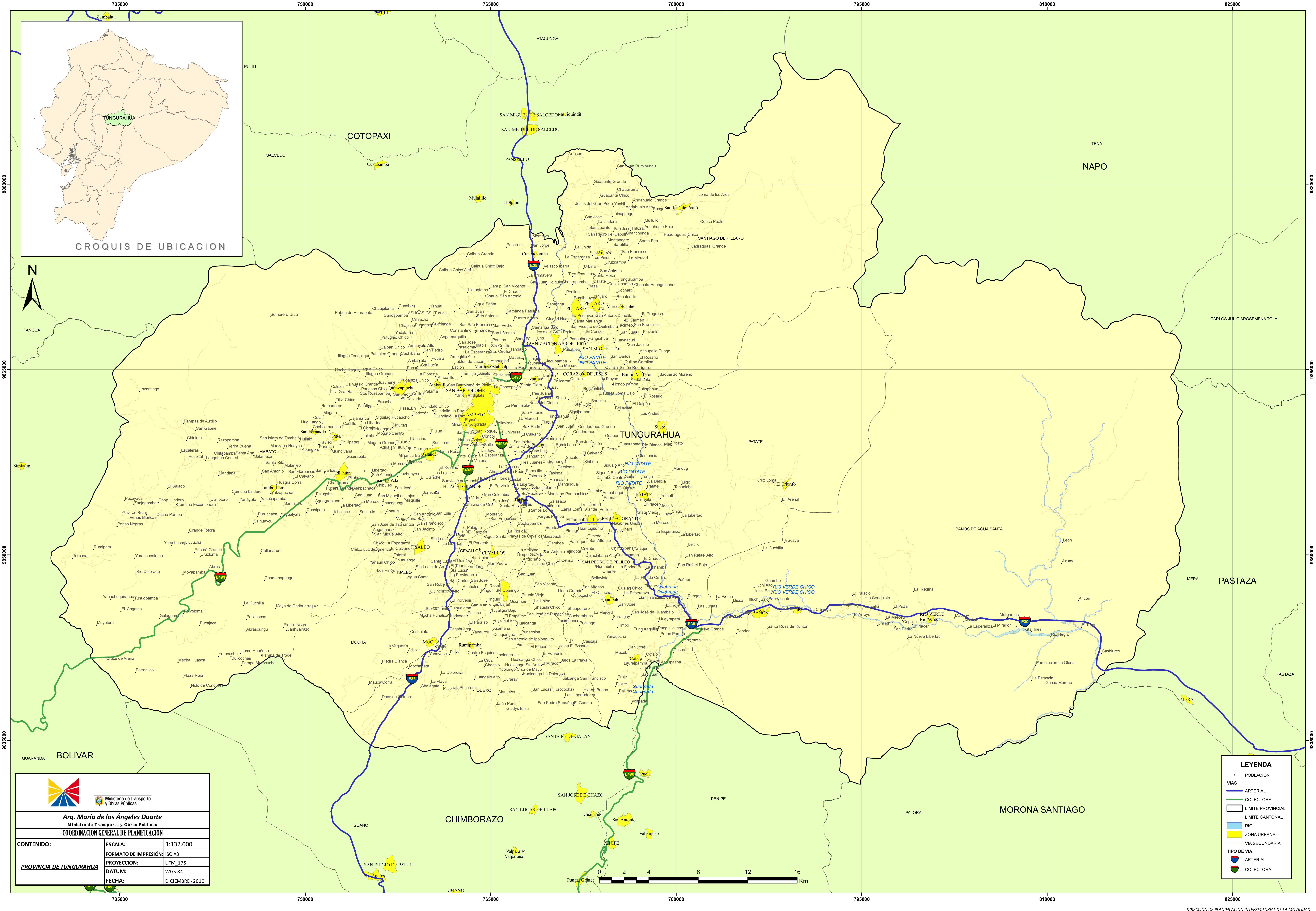 Mapa de Tungurahua 2010