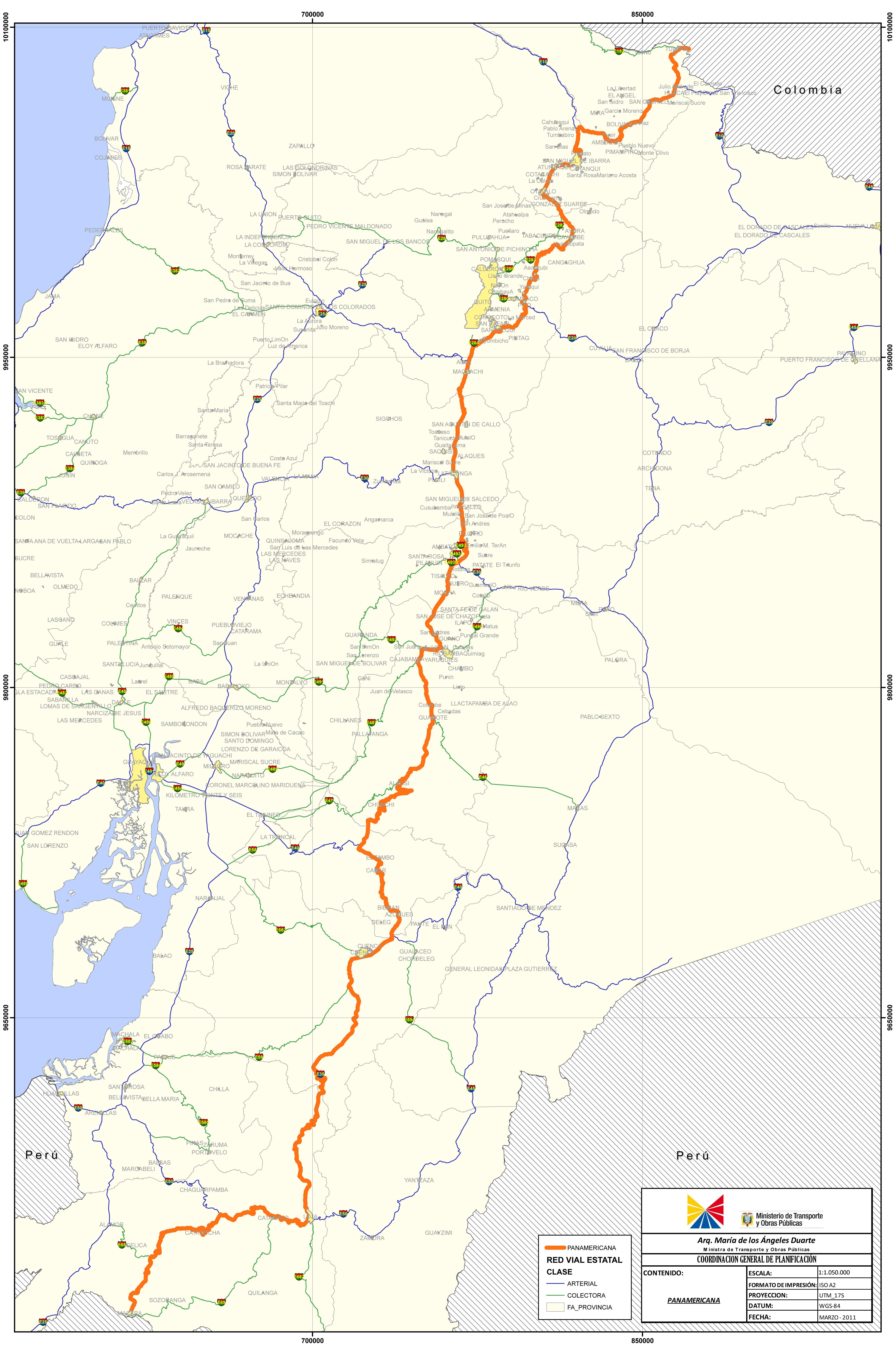 La Carretera Panamericana en el Ecuador 2011